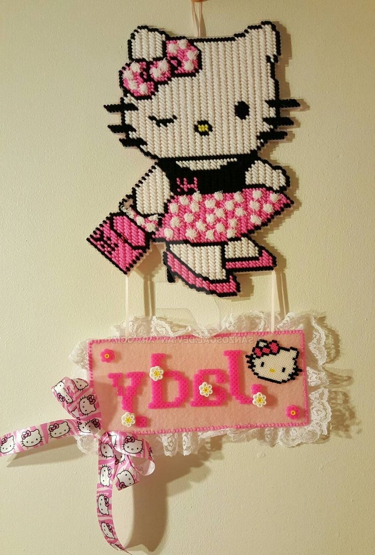 Famous Hello Kitty Plastic Canvas Wall Hangsanzosgal On Deviantart With Regard To Hello Kitty Canvas Wall Art (View 7 of 15)