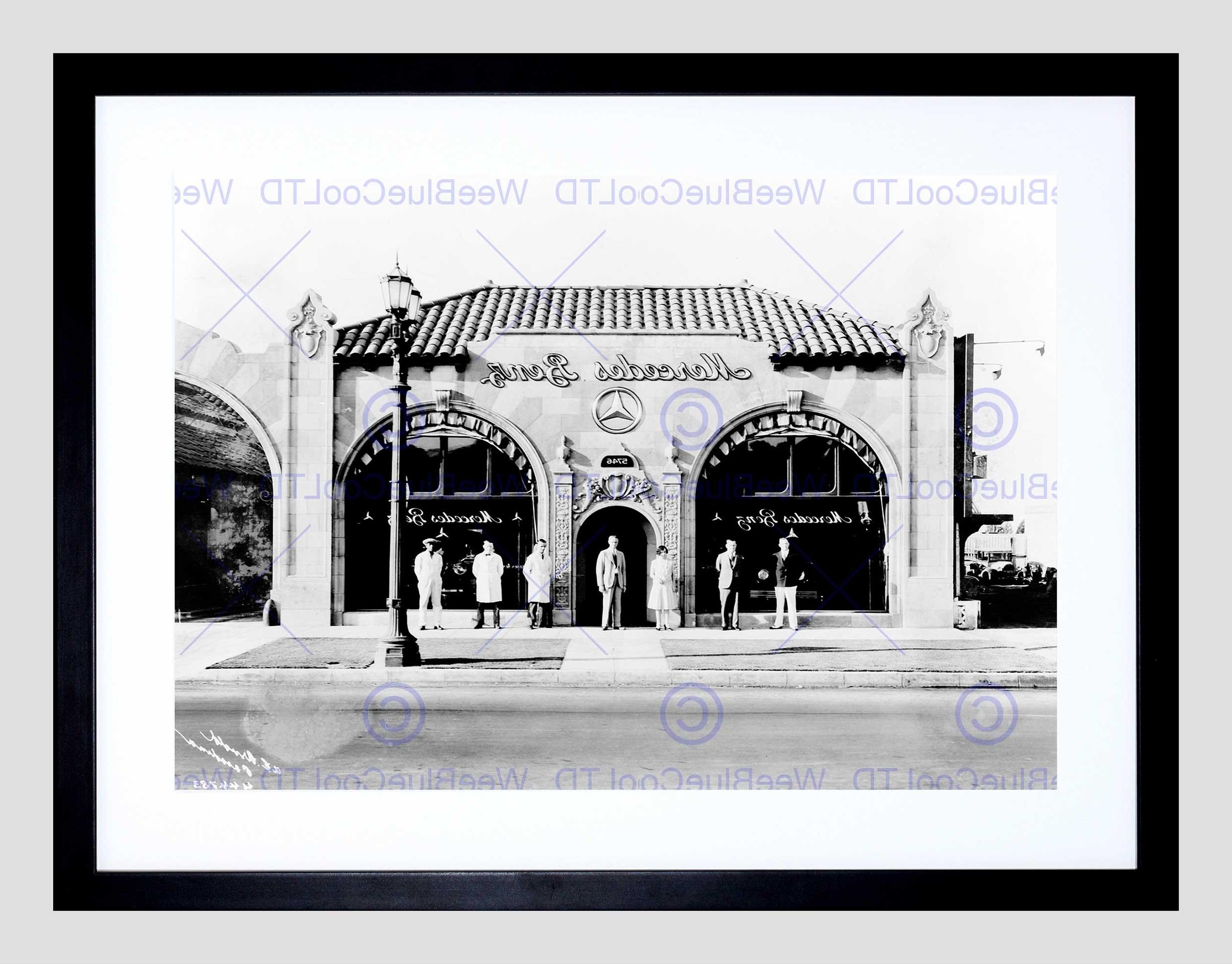 Famous Los Angeles Framed Art Prints Inside Vintage Car Automobile Sale Shop Pasadena Los Angeles Framed Art (View 2 of 15)