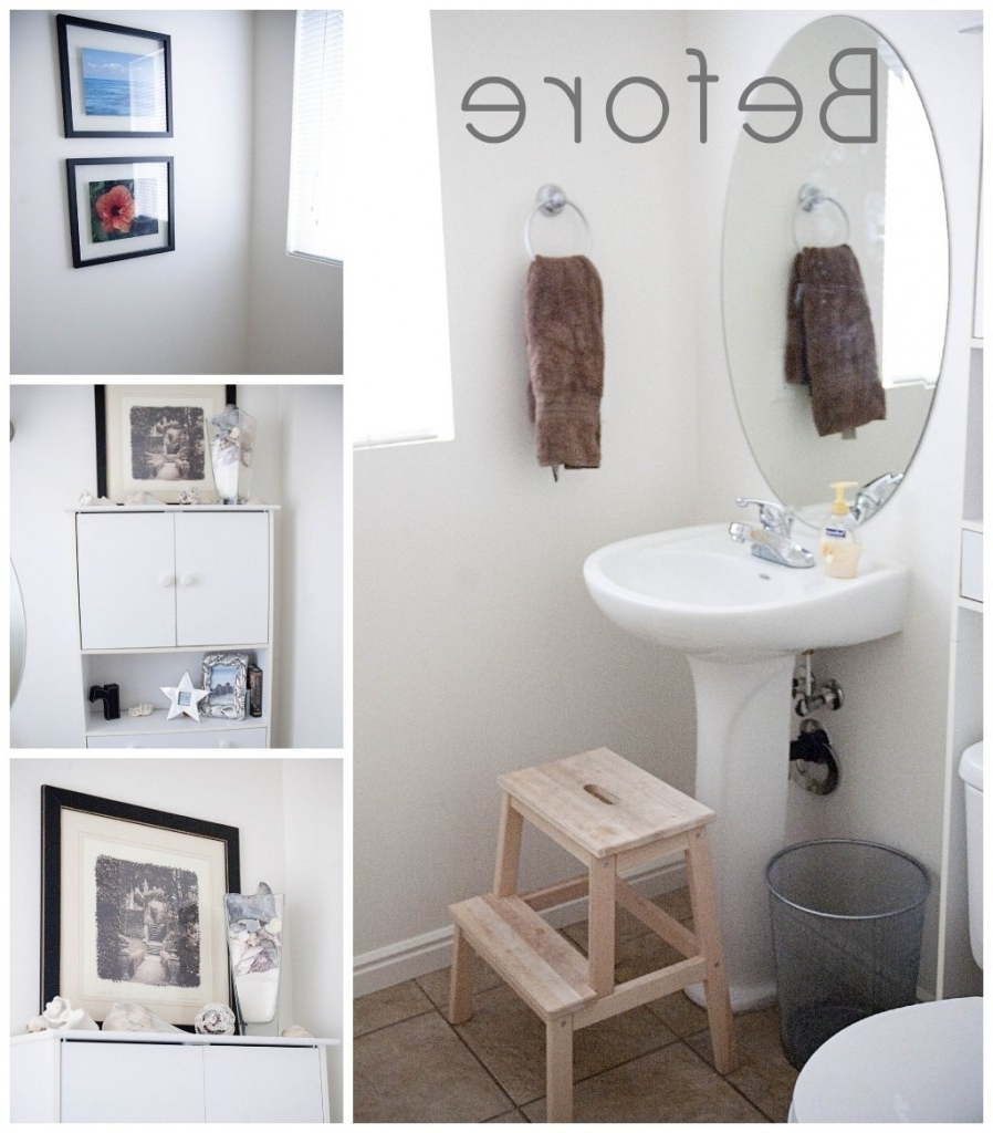 Famous Minimalist Lovely Decoration Decorating Bathroom Walls Pleasant For Wall Accents For Bathrooms (View 7 of 15)