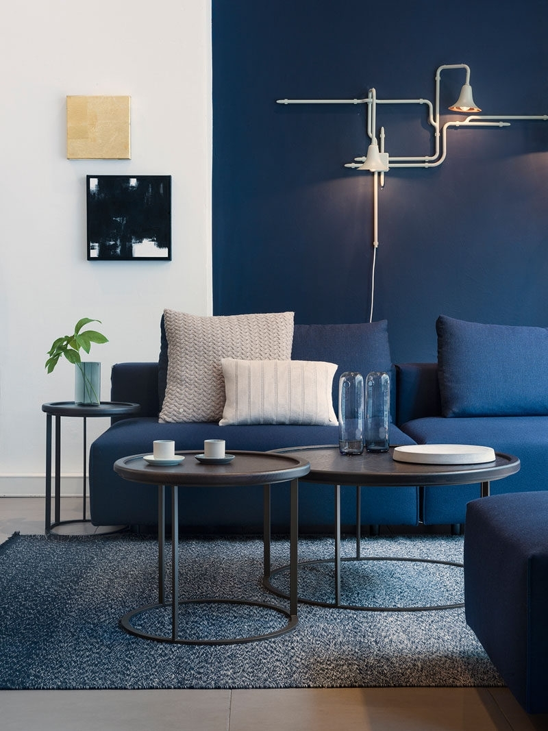 Famous Navy Wall Accents With Regard To 4 Ways To Use Navy Home Decor To Create A Modern Blue Living Room (View 5 of 15)