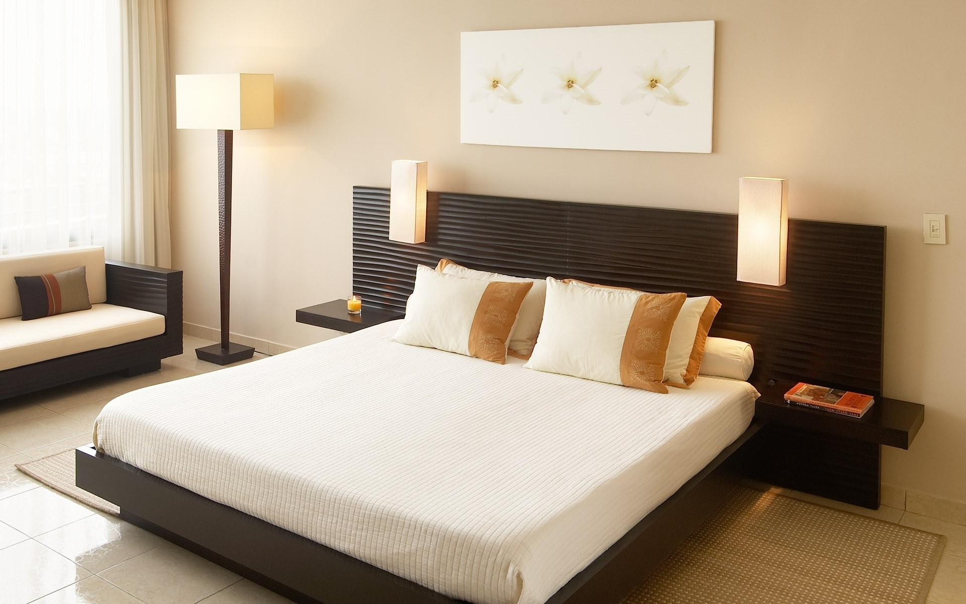 Famous Rectangular Mirror Above Bed Romantic Bedroom Decorations White Throughout Fabric Wall Art Above Bed (View 5 of 15)