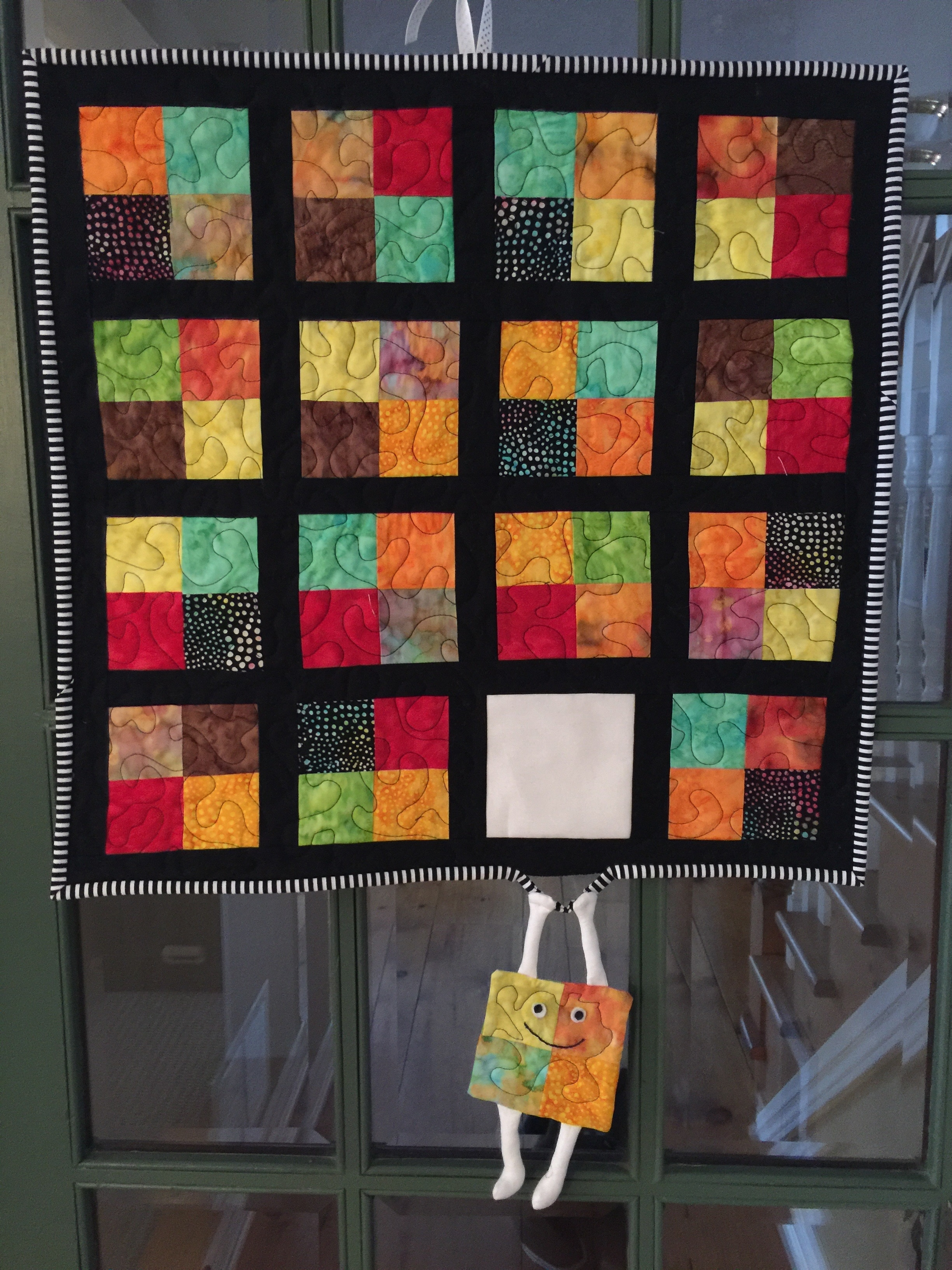 Famous Runaway Quilt Block! Hang In There/humorous Quilted Wall Hanging Inside Quilt Fabric Wall Art (View 4 of 15)