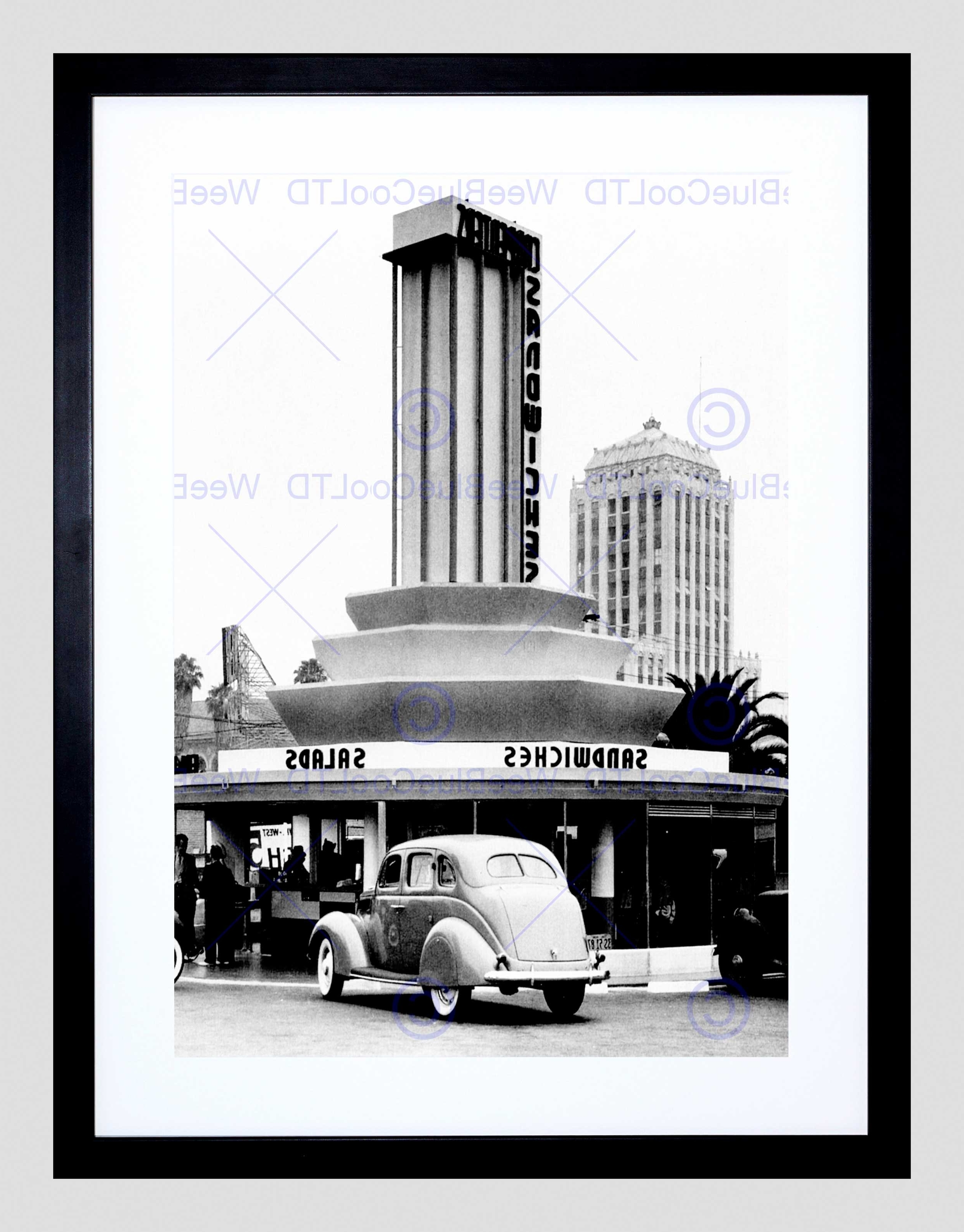 Famous Vintage Sandwich Shop Los Angeles California Usa Framed Art Print Intended For Los Angeles Framed Art Prints (View 4 of 15)
