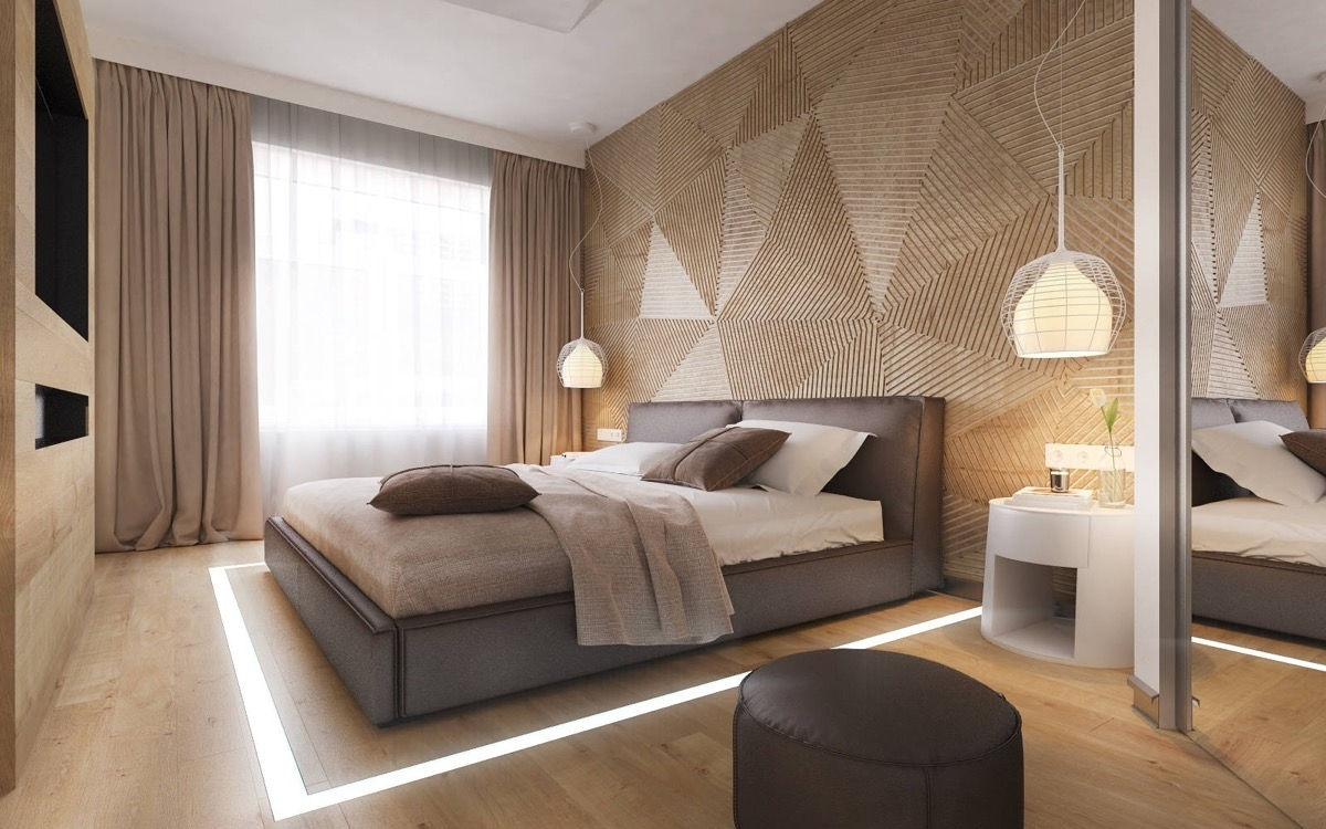 Famous Wall Accents For Small Bedroom Throughout Bedroom Design: Red Accent Wall Yellow Accent Wall Stone Accent (View 4 of 15)
