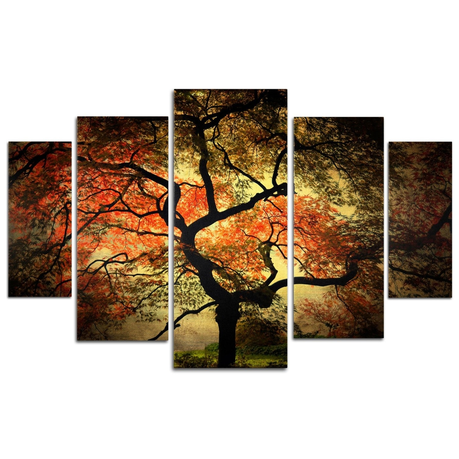Famous Wall Art Designs: Multi Panel Wall Art Pair Large Multi Panel Throughout Rustic Canvas Wall Art (View 9 of 15)