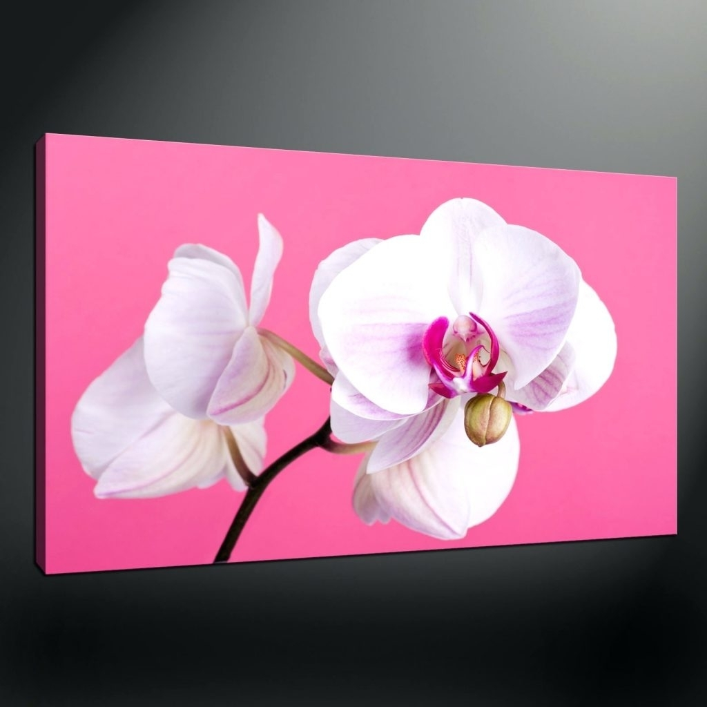 Famous Wall Arts ~ Pink Floral Canvas Wall Art Pink Orchids Quality In Orchid Canvas Wall Art (View 5 of 15)