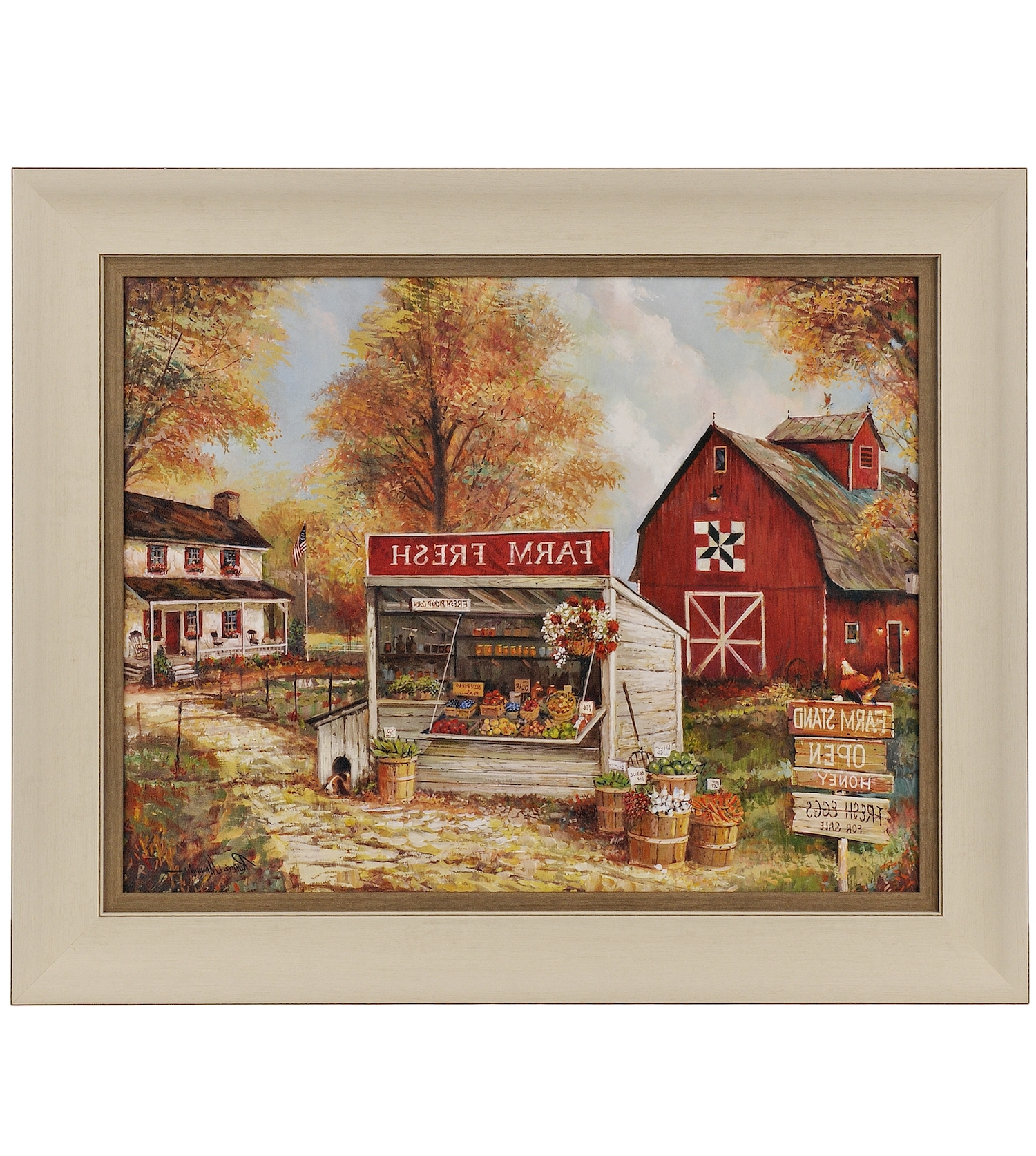 Farm Stand Framed Art Print (View 10 of 15)