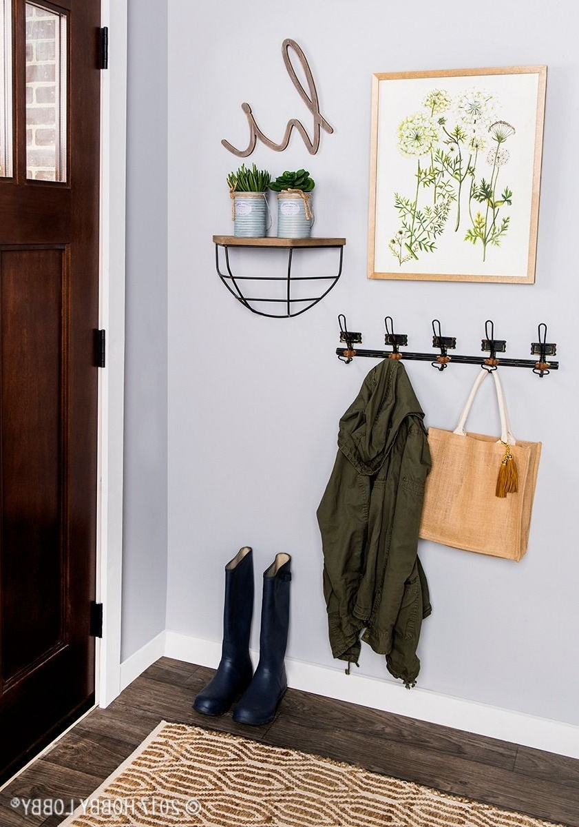 Fashionable Add Emphasis To Your Entryway With A Simple, Chic Gallery Wall Throughout Entryway Wall Accents (View 9 of 15)