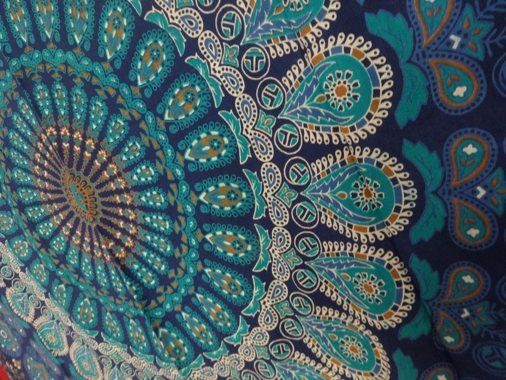 Fashionable Amazon: Tapestry Wall Hanging, Mandala Tapestries, Indian Within Indian Fabric Wall Art (View 4 of 15)