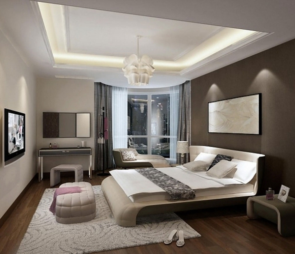 Fashionable Bright Bedroom Design Idea Using White And Black Accents Wall Within Wall Art Accents (View 5 of 15)