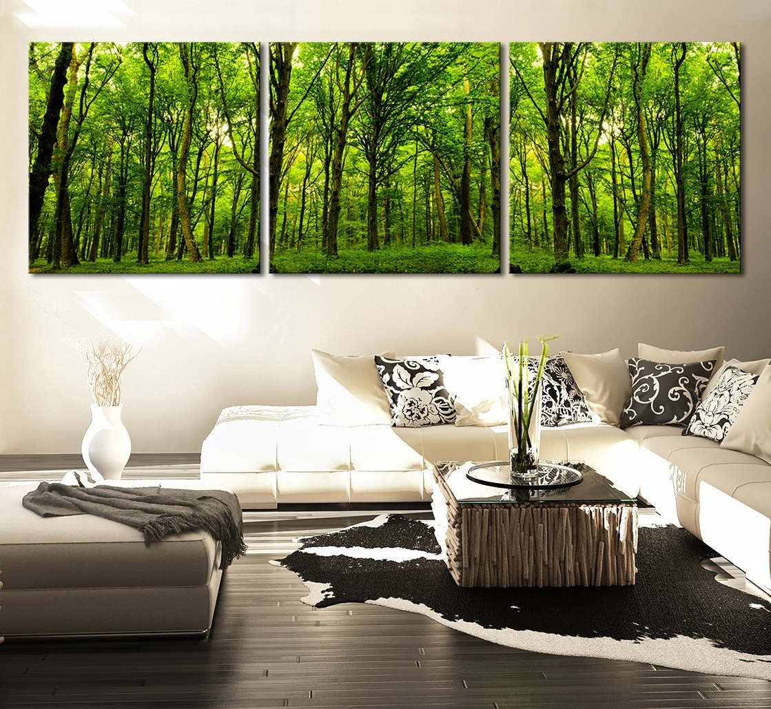 Fashionable Canvas Print Green Forest + Green Tree Canvas Art Printing + With Johannesburg Canvas Wall Art (View 6 of 15)
