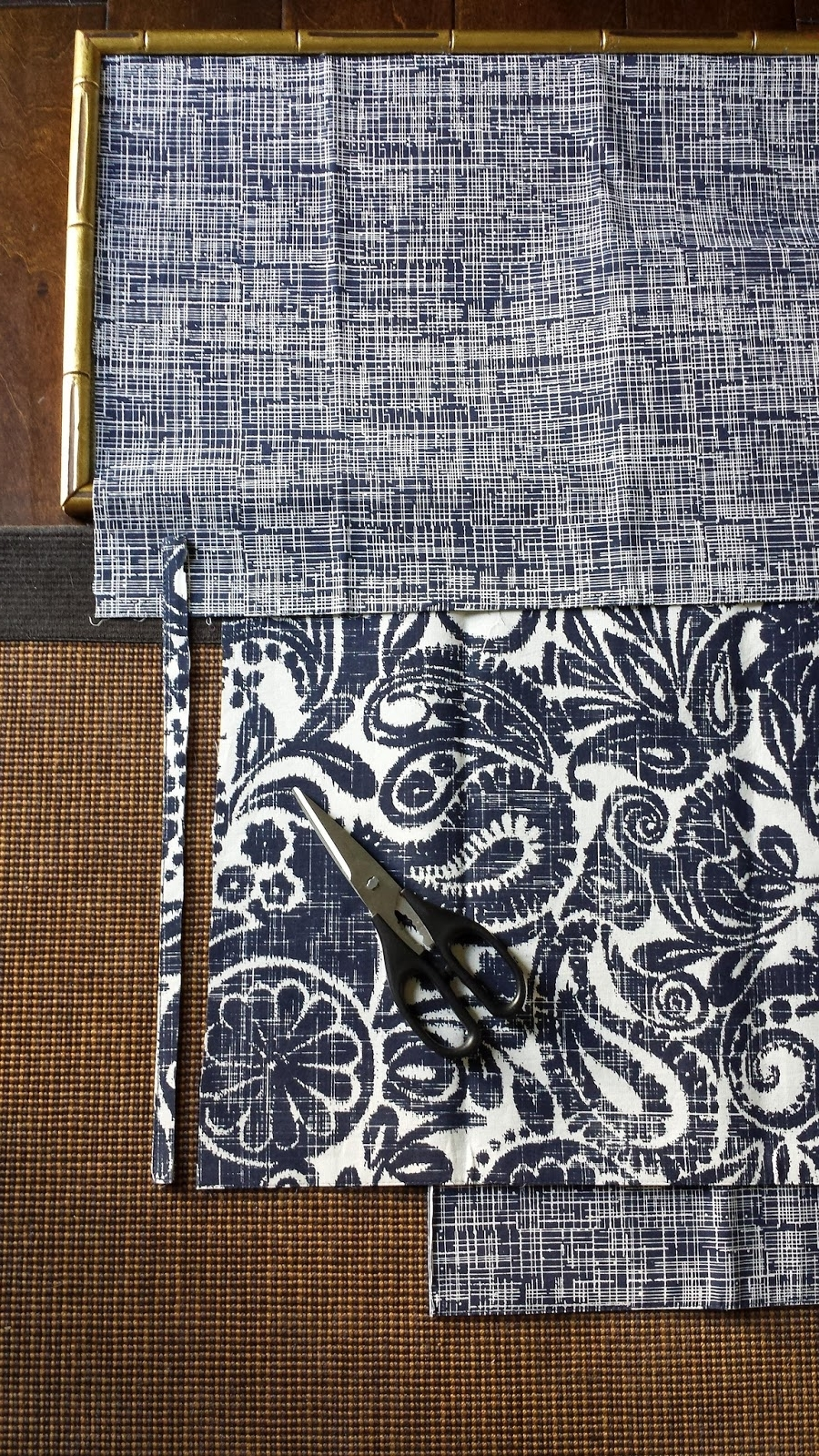 Fashionable Diy Framed Fabric Wall Art With Regard To Focal Point Styling: Diy Indigo Wall Art With Framed Fabric (View 6 of 15)