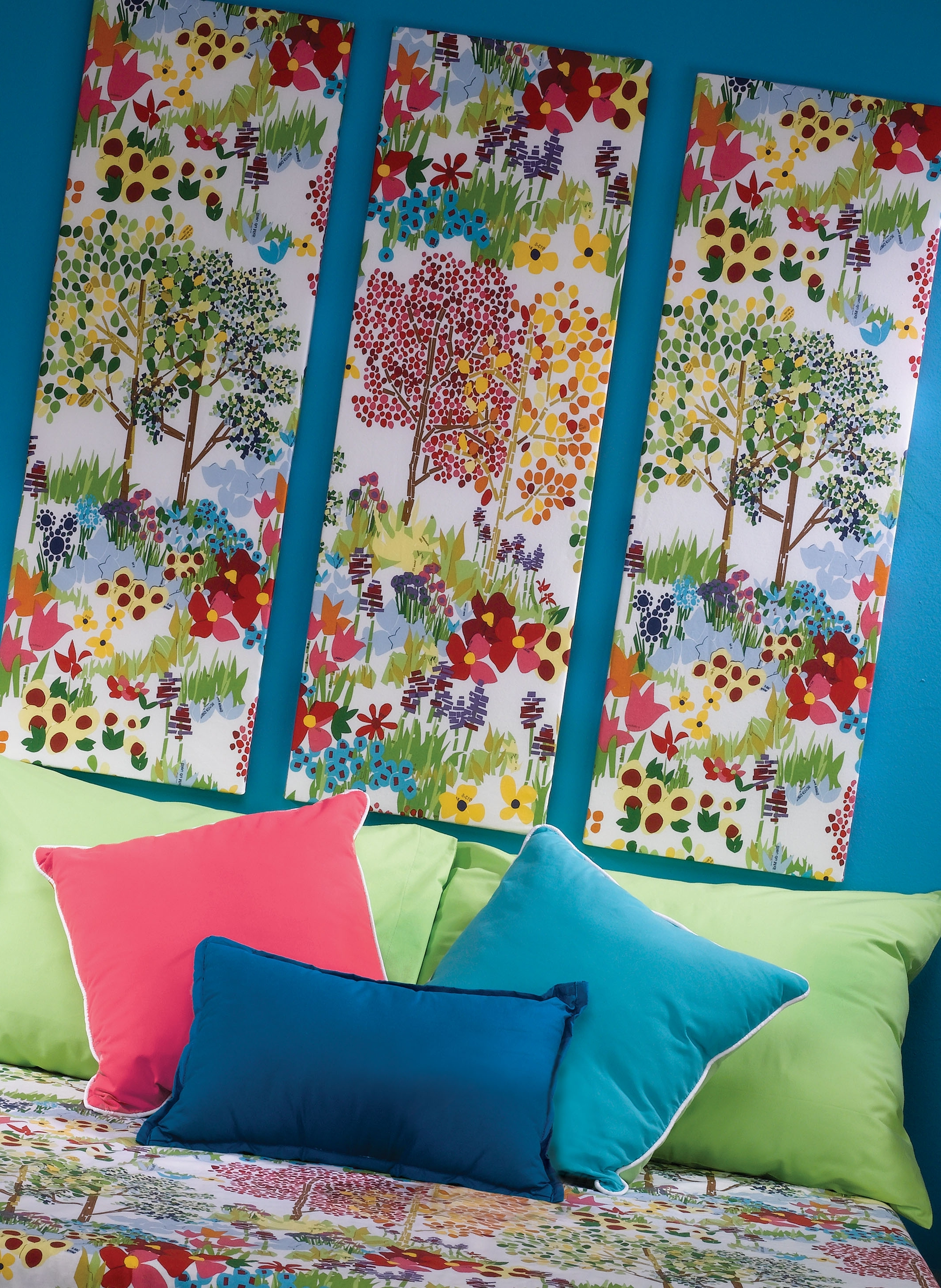 Fashionable Diy Wall Art. Cover Styrofoam In Fabric (View 2 of 15)