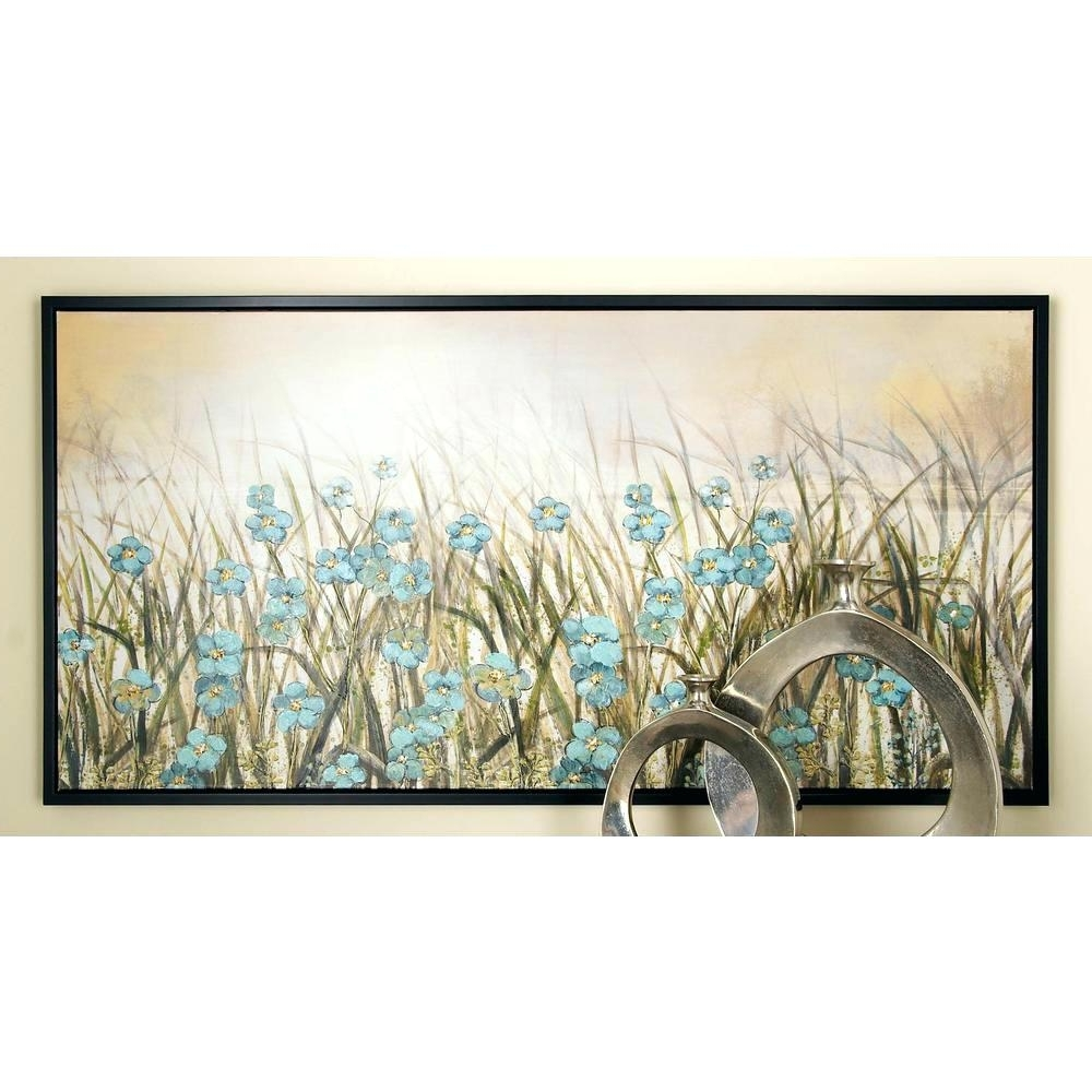Fashionable Duck Egg Blue Canvas Wall Art Within Wall Arts ~ Blue Green And Brown Wall Art Home Decor 5 Piece (View 10 of 15)