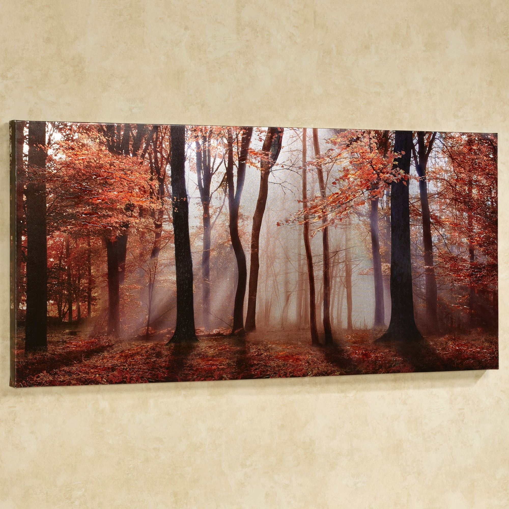 Fashionable Embellished Canvas Wall Art Within Autumns Allure Giclee Canvas Wall Art (View 4 of 15)