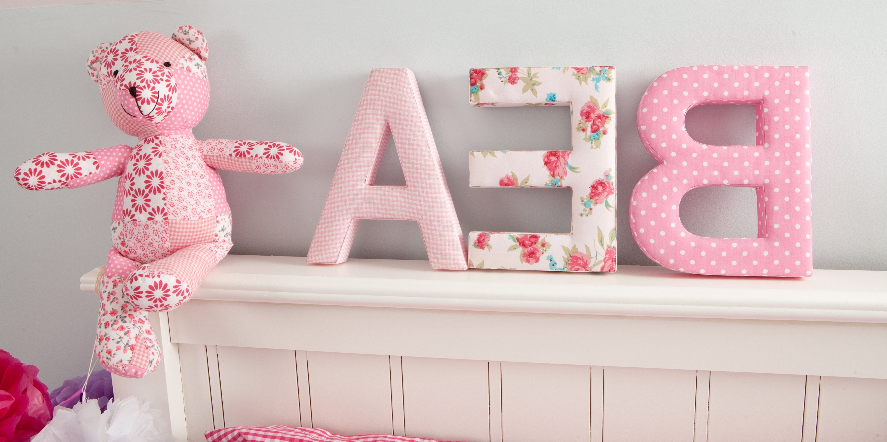 Fashionable Fabric Wall Art Letters Inside Make It Personal With Our Fabric Letters – Babyface Blog (View 10 of 15)