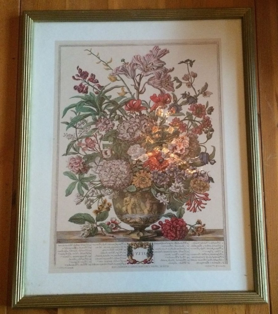 Fashionable Framed Fine Art Prints In Framed Botanical Print Flowers Bouquet Month Of July Robert Furber (View 2 of 15)