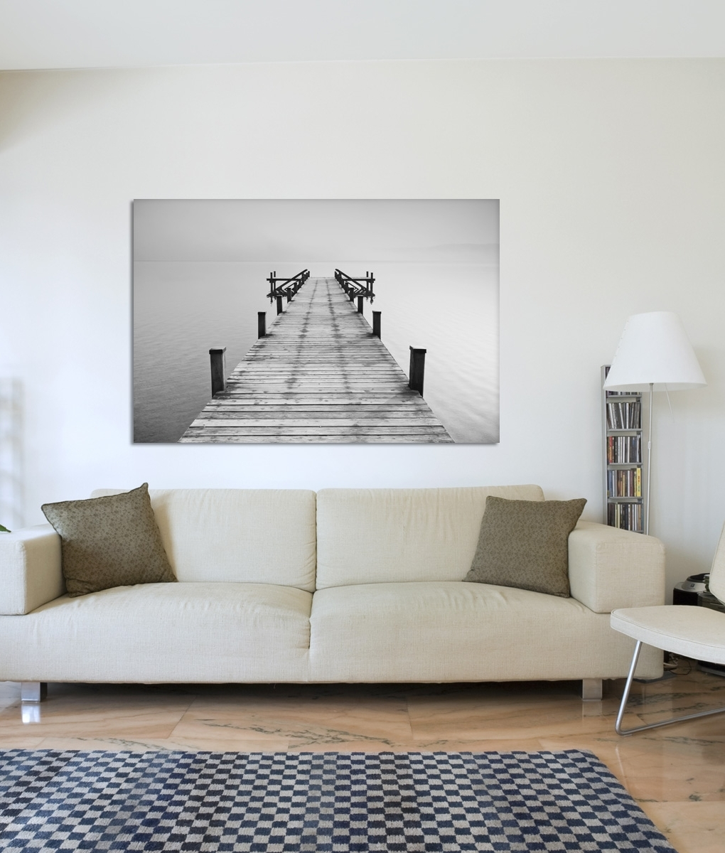 Fashionable Jetty Canvas Wall Art Intended For B&w Jetty Canvas Print (View 6 of 15)