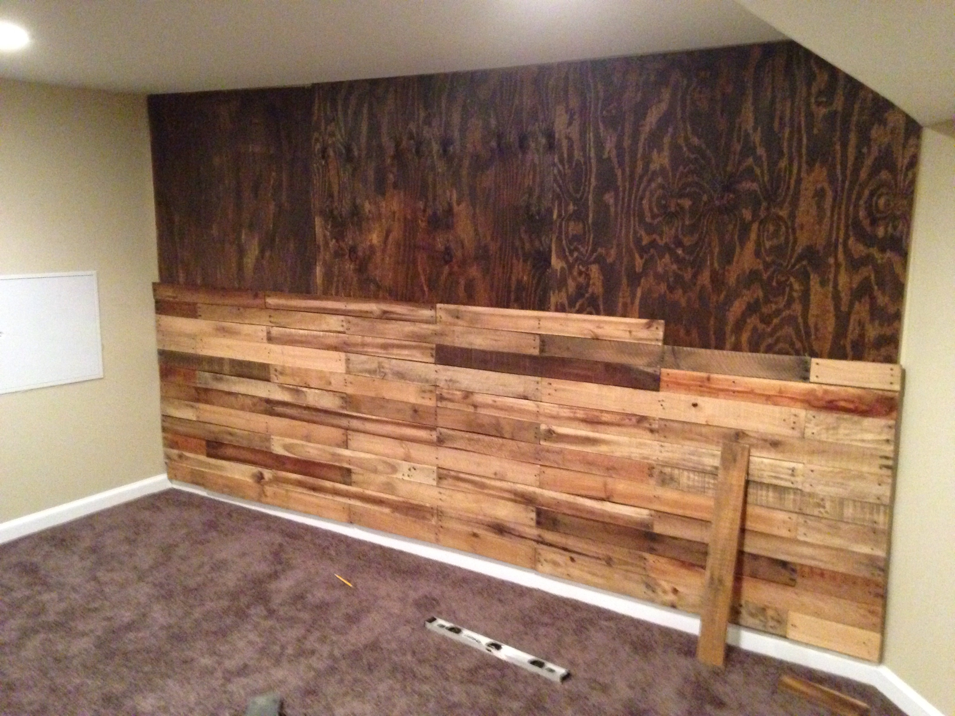 Fashionable Pallet Accent Wall! – Album On Imgur Inside Wall Accents Made From Pallets (View 8 of 15)