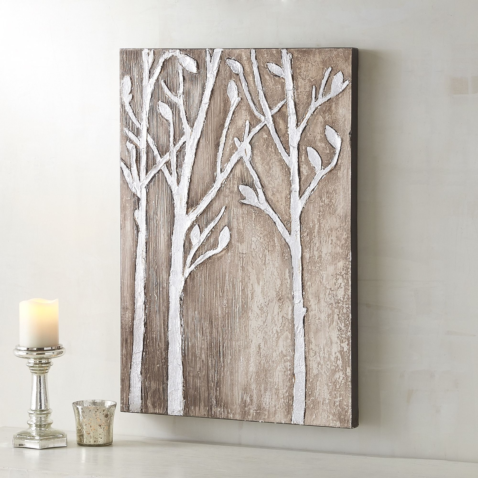 Fashionable Pier One Silver Birch Wall Art $62 Acrylic On Canvas Wall Art (View 10 of 15)