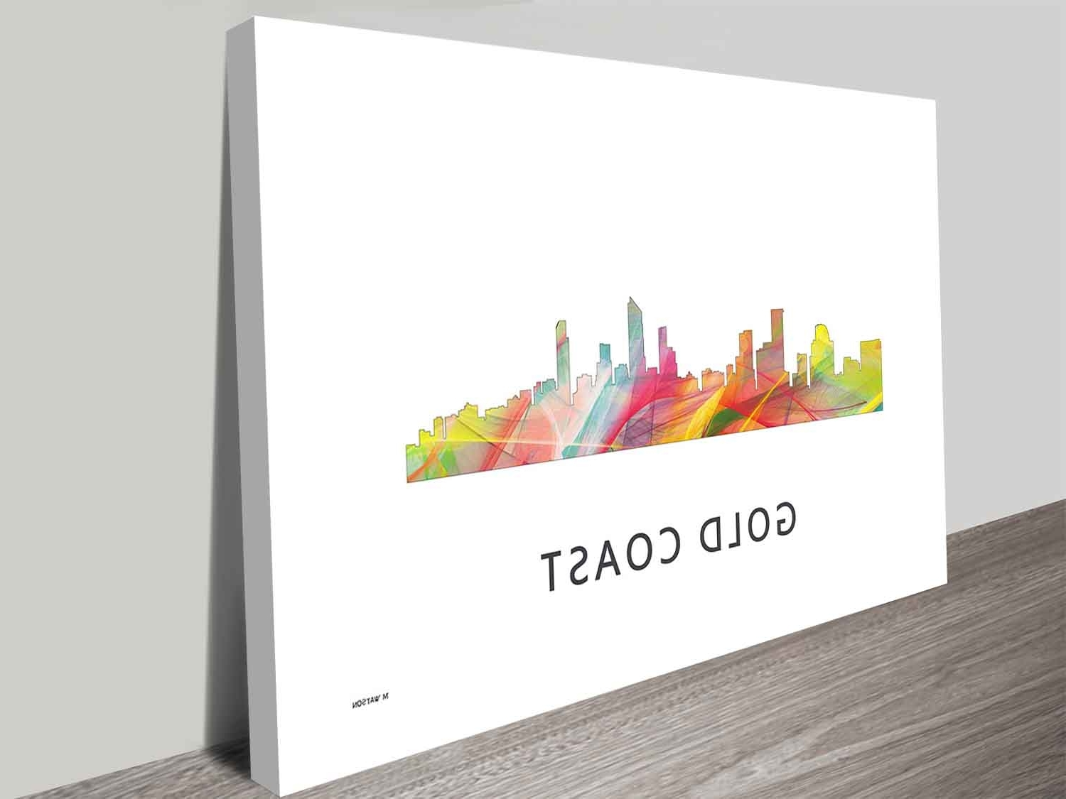 Fashionable Queensland Canvas Wall Art Intended For Gold Coast Queensland Skyline Art Print On Canvas Wall Art (View 6 of 15)