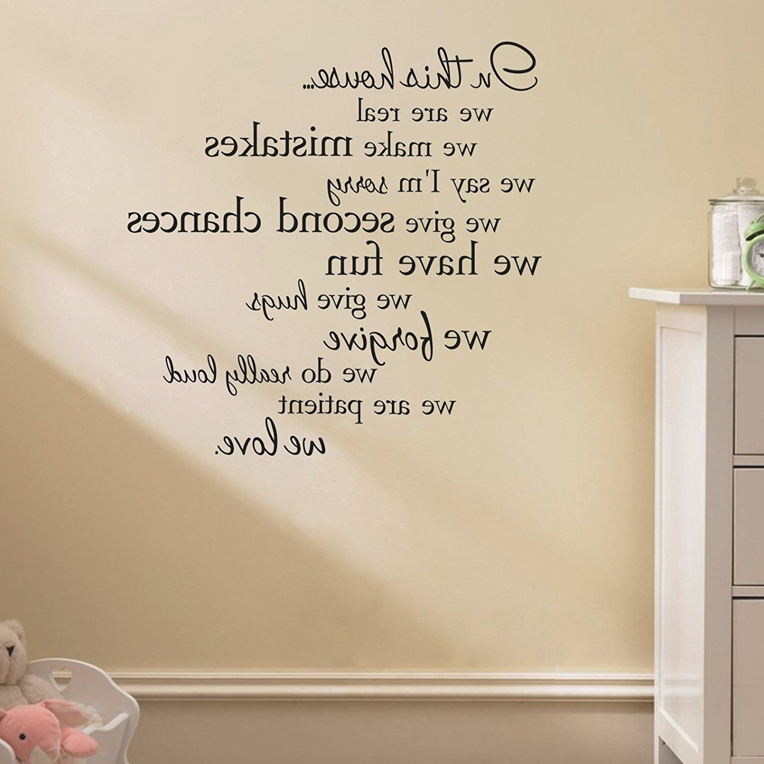 "Fashionable Removable Wall Accents Within Amazon: Wall Decals Stickers, Kredy ""in This House"" Alphabet (View 13 of 15)"