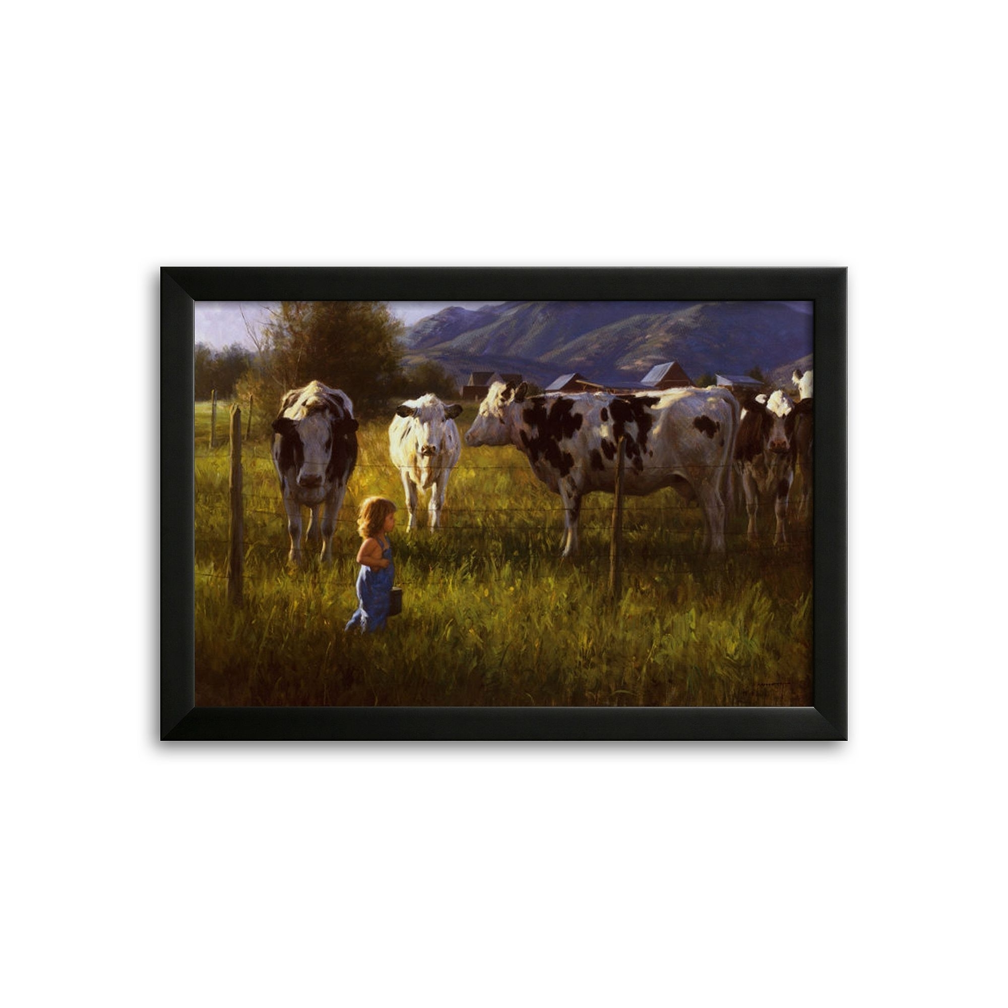 Fashionable Robert Duncan Framed Art Prints Throughout Art Anniken And The Cows Framed Art Printrobert Duncan (View 7 of 15)