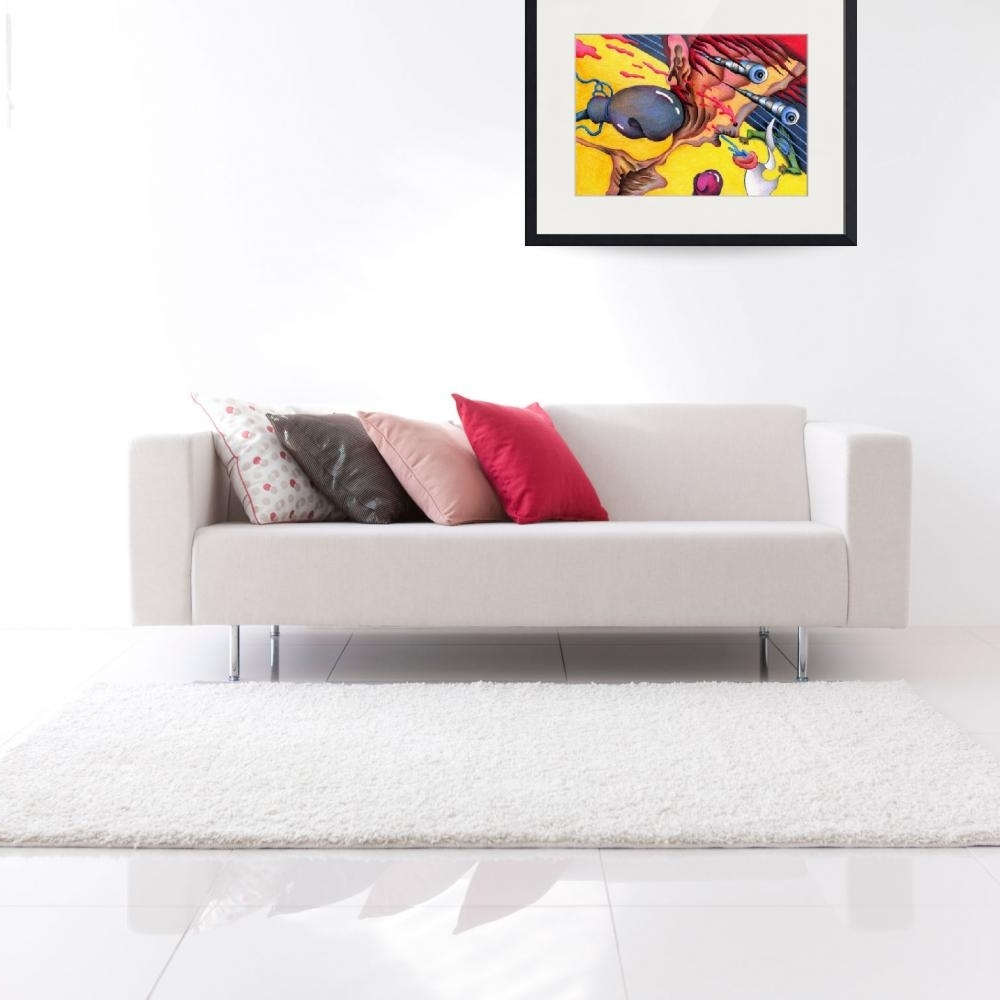"""Fashionable Stunning """"funky"""" Pencil Drawings And Illustrations For Sale On Within Funky Art Framed Prints (View 11 of 15)"""