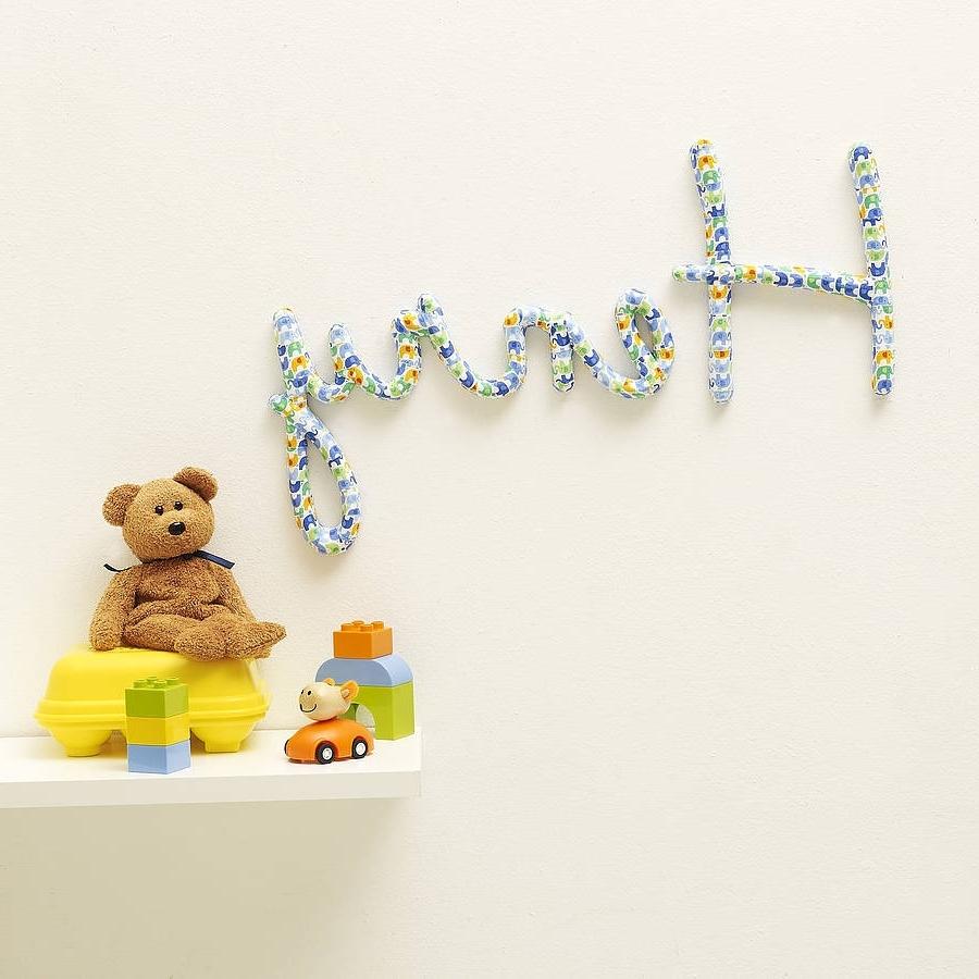 Fashionable Wall Art Designs: Name Wall Art Personalised Nursery Name Wall Art Regarding Custom Nursery Canvas Wall Art (View 5 of 15)