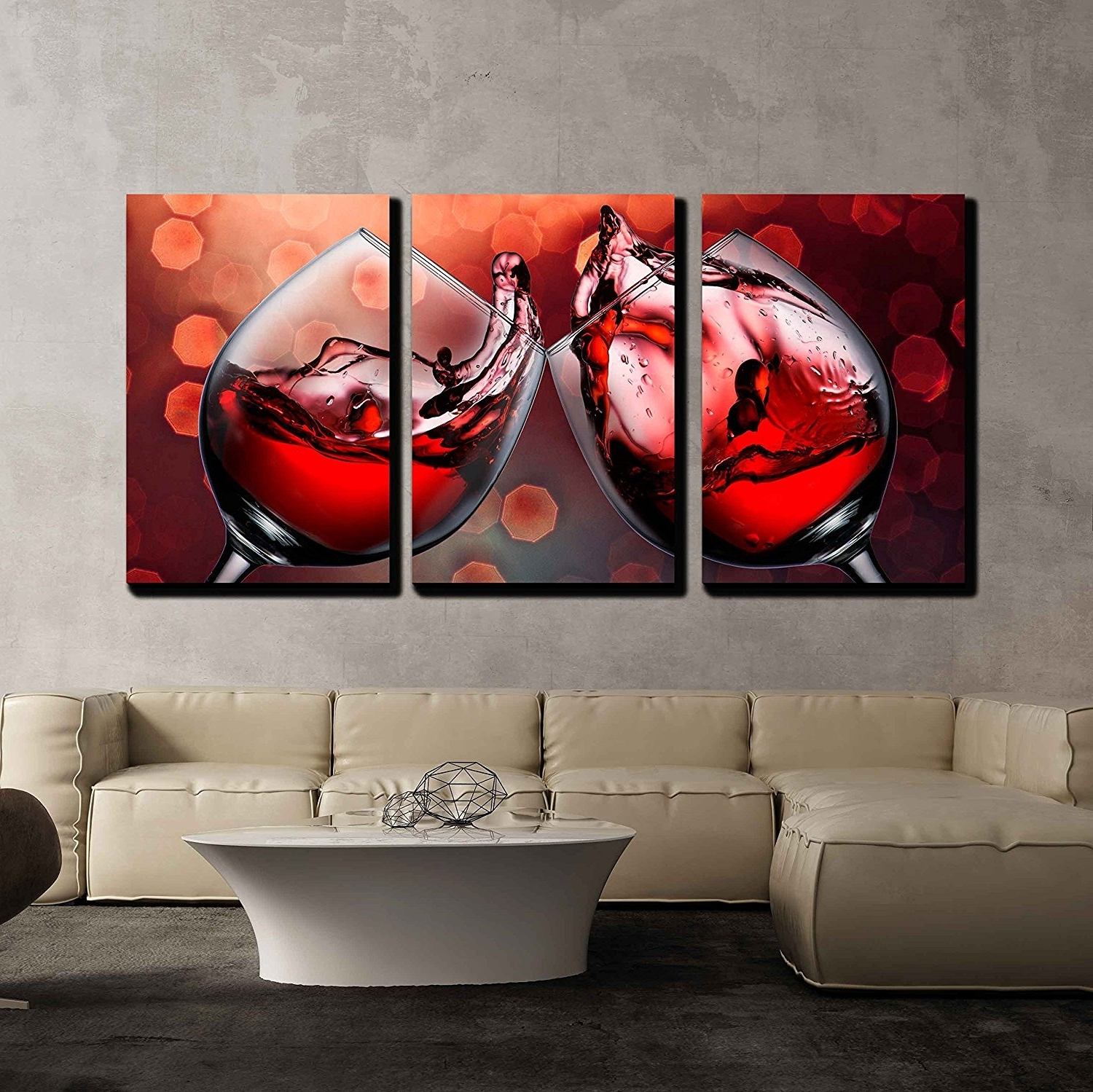 Fashionable Wall26 – Art Prints – Framed Art – Canvas Prints – Greeting With Regard To Red Canvas Wall Art (View 3 of 15)