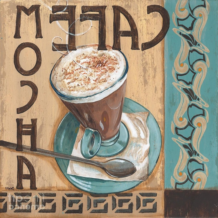Favorite Cafe Nouveau 1 Painting – Cafe Nouveau 1 Fine Art Print In Framed Coffee Art Prints (Gallery 4 of 15)