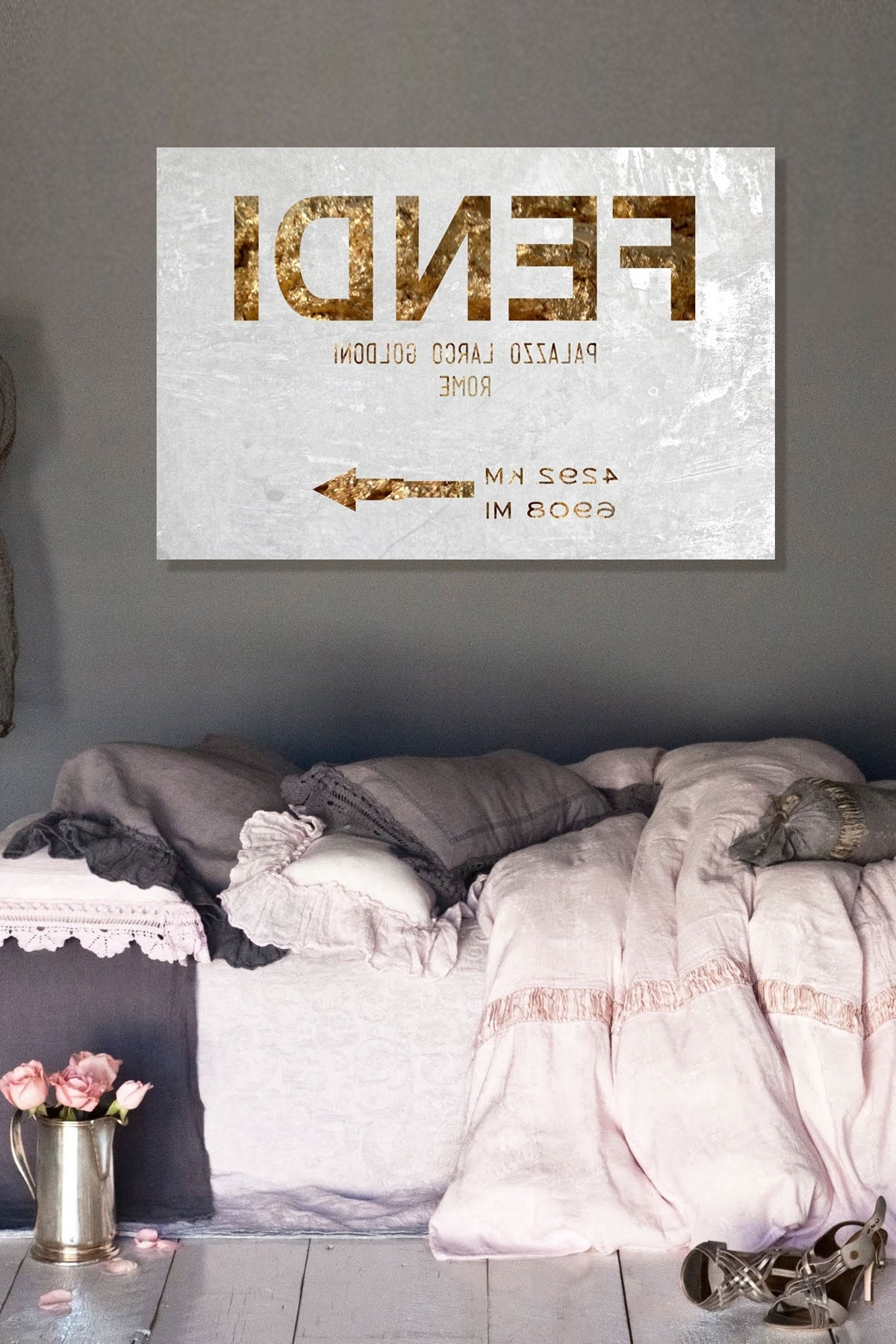 Favorite Canvas Wall Art Of Rome Inside Oliver Gal Rome Road Sign Canvas Wall Art On @hautelook (View 8 of 15)