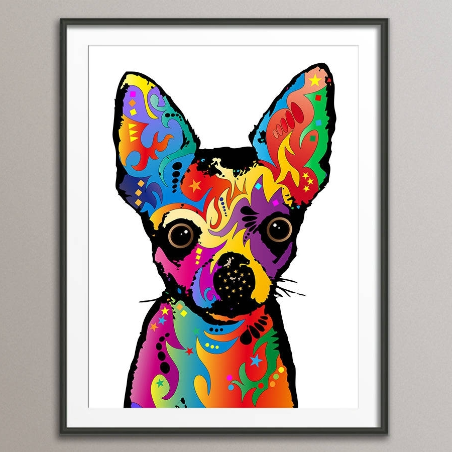 Favorite Chihuahua Dog Pop Art Printartpause (View 7 of 15)