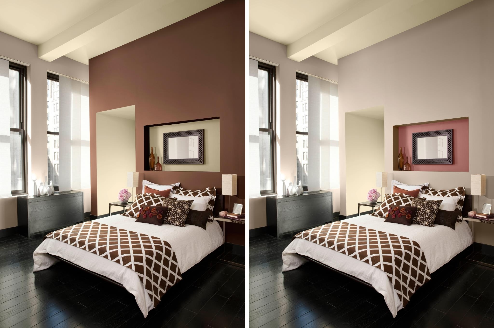 Favorite Easy Paint Designs For Walls Accent Wall Colors Ideas Wall Paint Pertaining To Brown Wall Accents (View 5 of 15)