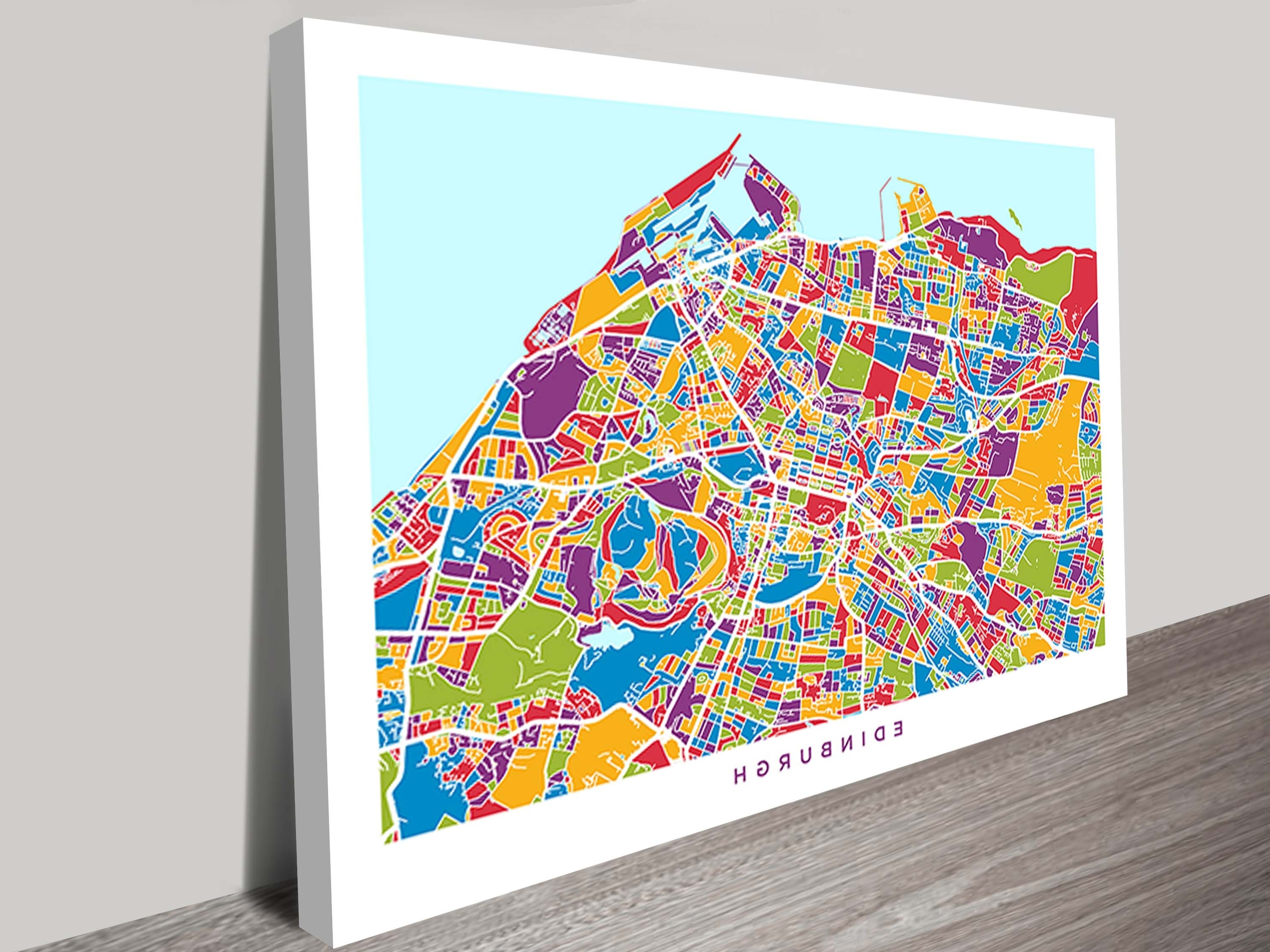 Favorite Edinburgh, Scotland Street Map Canvas Artmichael Tompsett With Edinburgh Canvas Prints Wall Art (View 8 of 15)