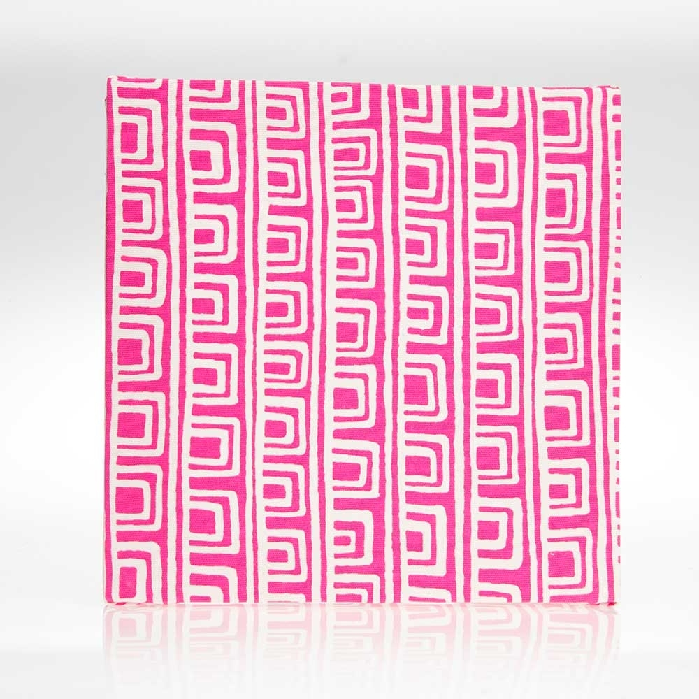 "Favorite Geometric Fabric Wall Art Inside Millie Wall Art Pink Geometric (14X14X15"") Fabric Covered – Super Tech (View 4 of 15)"