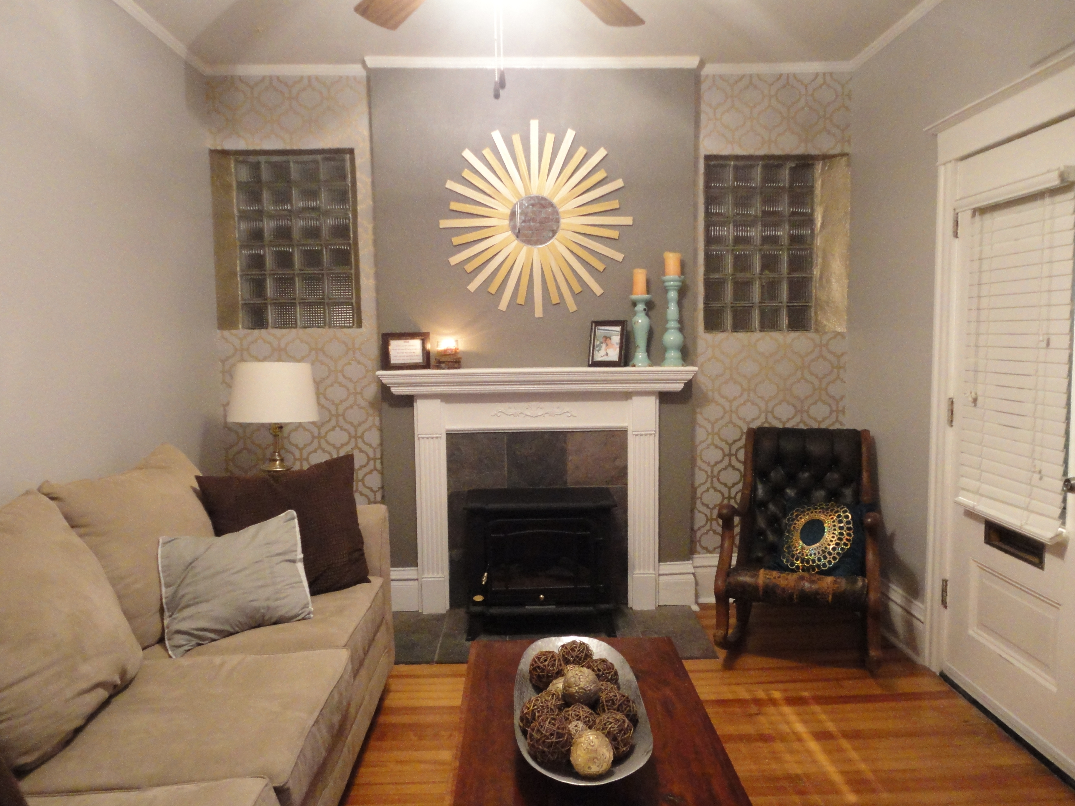 Favorite Grey Accent Wall Living Room Combinedwhite Fireplace And Grey Inside Fireplace Wall Accents (View 7 of 15)