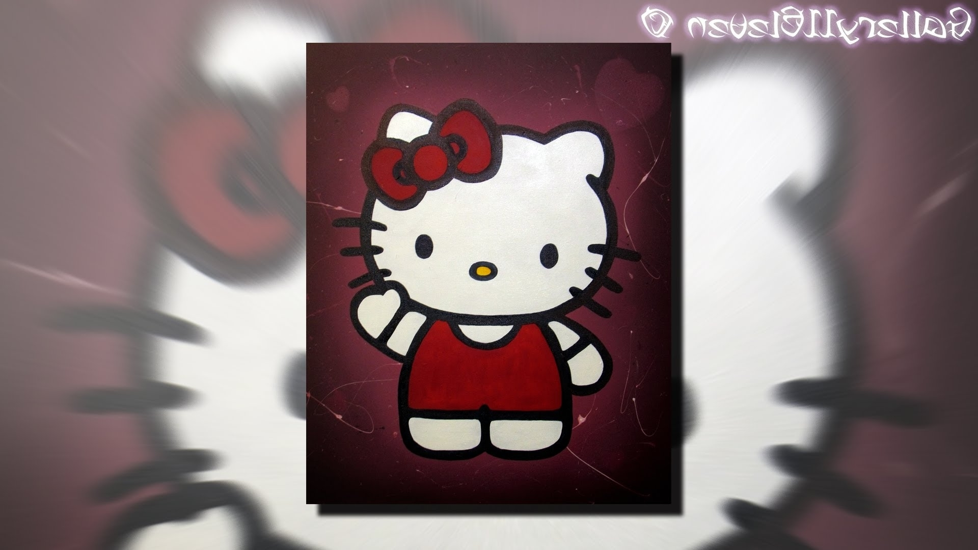 Favorite Hello Kitty – Painting Art – Youtube With Hello Kitty Canvas Wall Art (View 9 of 15)