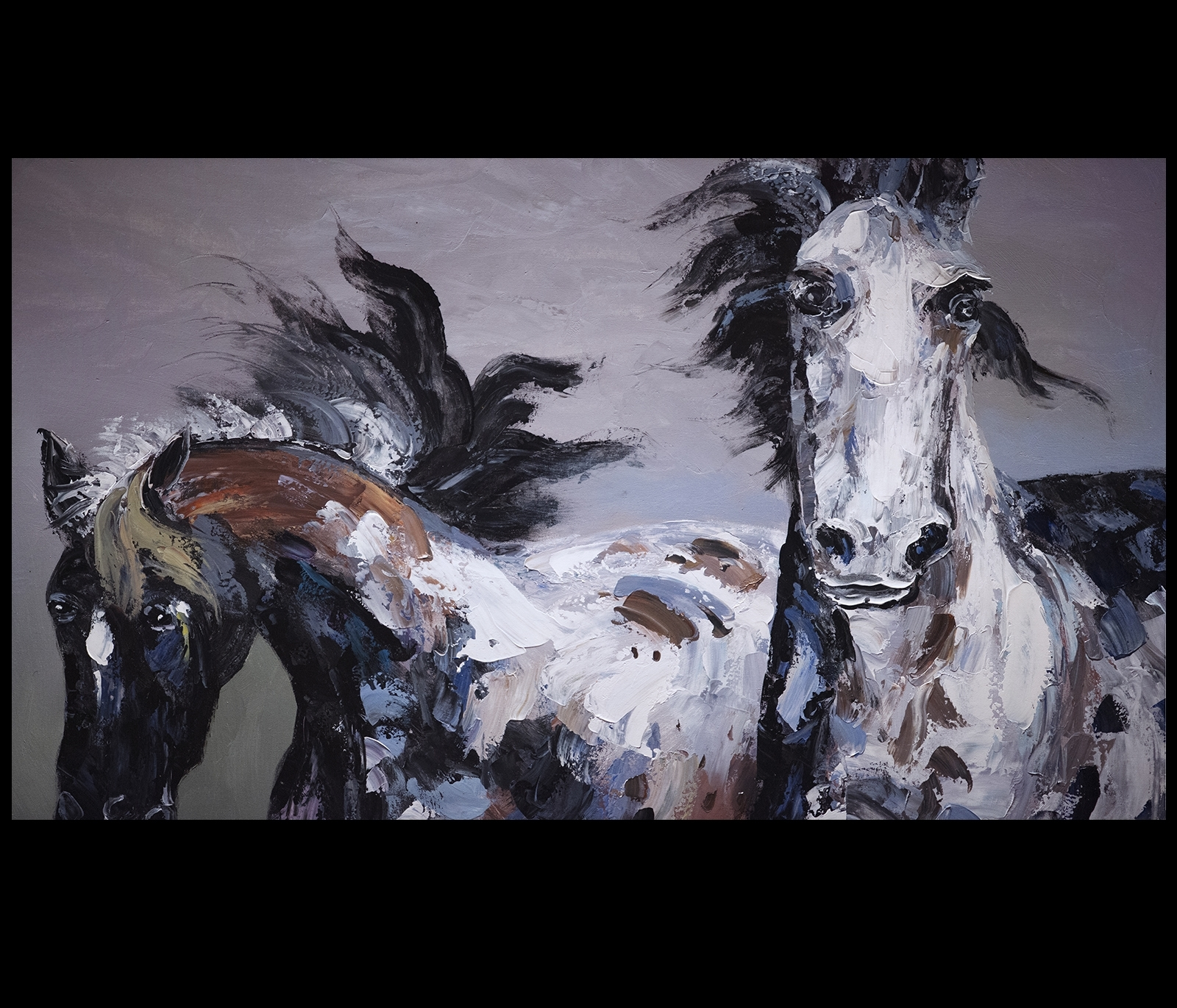 Favorite Horses Canvas Wall Art Throughout Painting Canvas Prints Contemporary Art Modern Wall Art Décor (View 14 of 15)