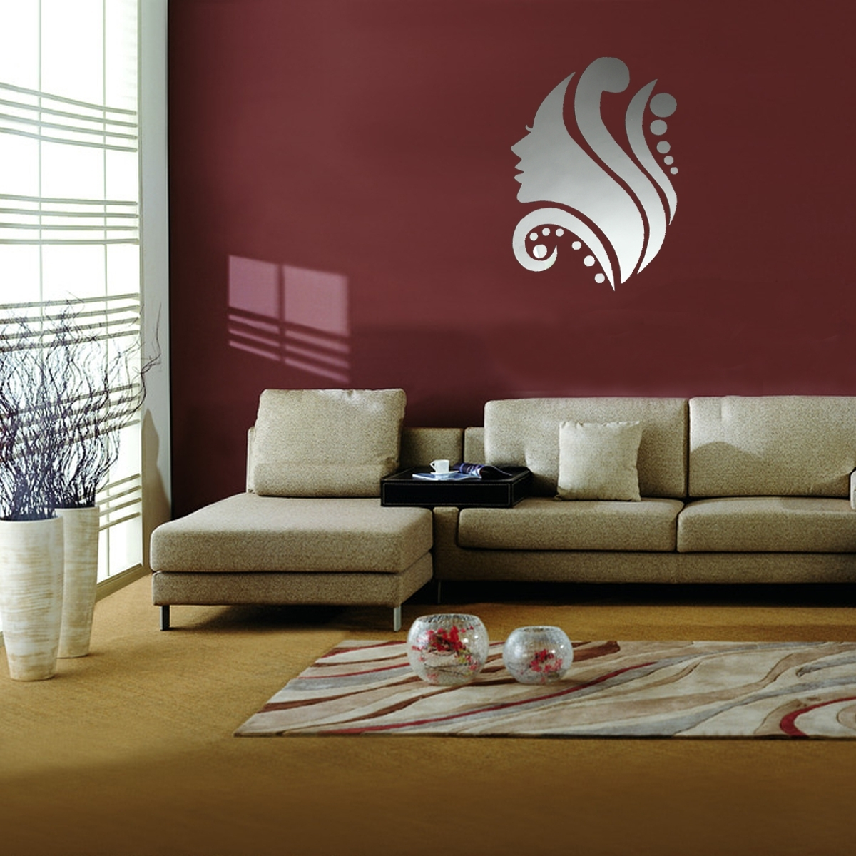Favorite Interior: Home Decoration Ideas Using Blank Wall Decoration With With Maroon Wall Accents (View 5 of 15)