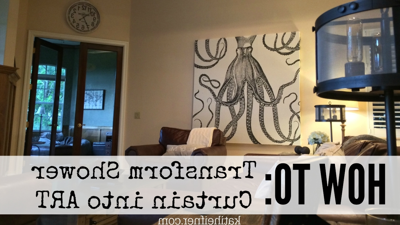 Favorite Iron Fabric Wall Art In Kati Heifner: How To: Shower Curtain Wall Art (View 3 of 15)