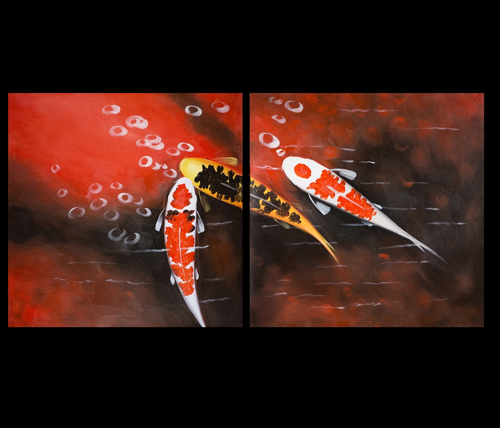 15 ideas of koi canvas wall art for Koi home decor