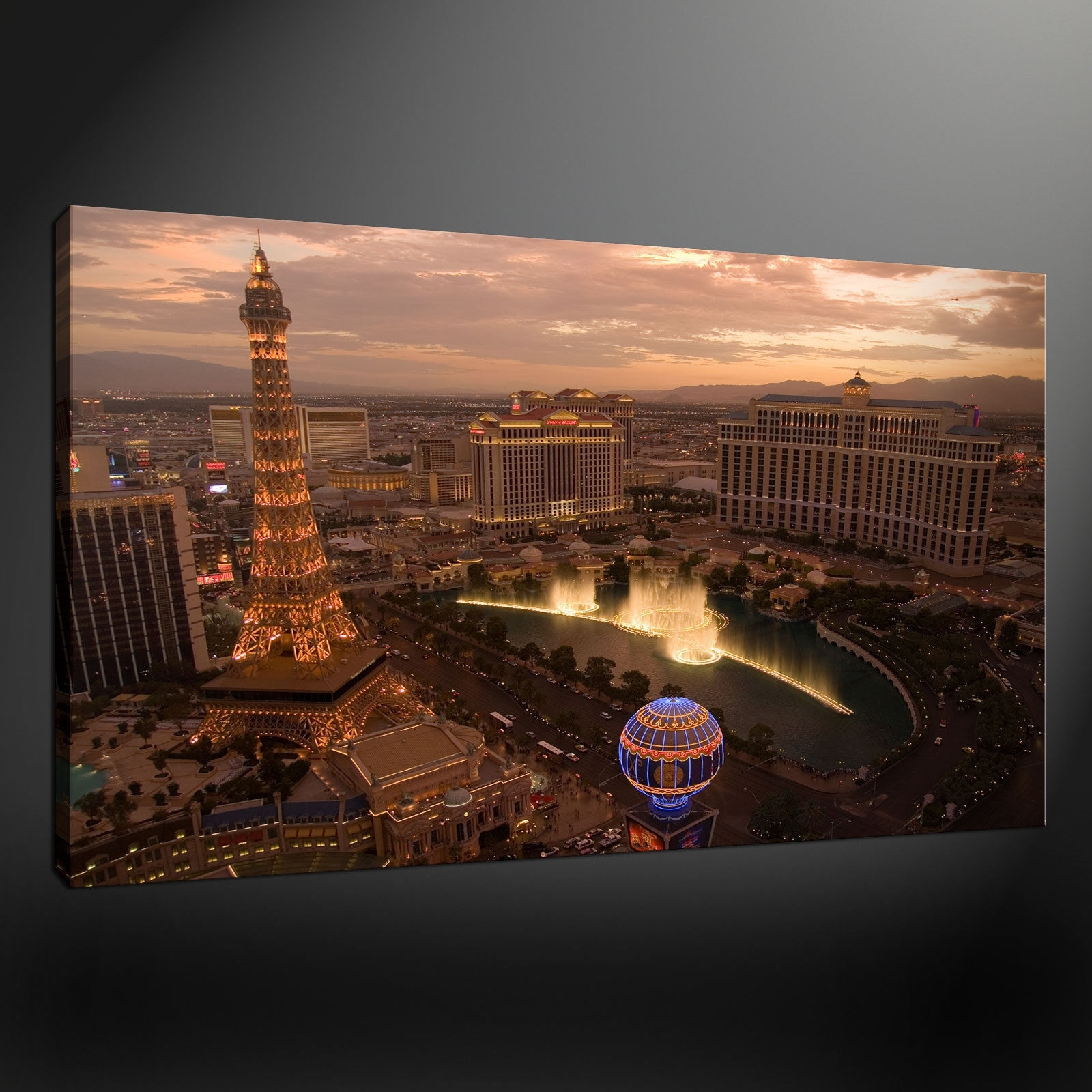 Favorite Las Vegas Canvas Wall Art For Canvas Print Pictures. High Quality, Handmade, Free Next Day Delivery (View 3 of 15)