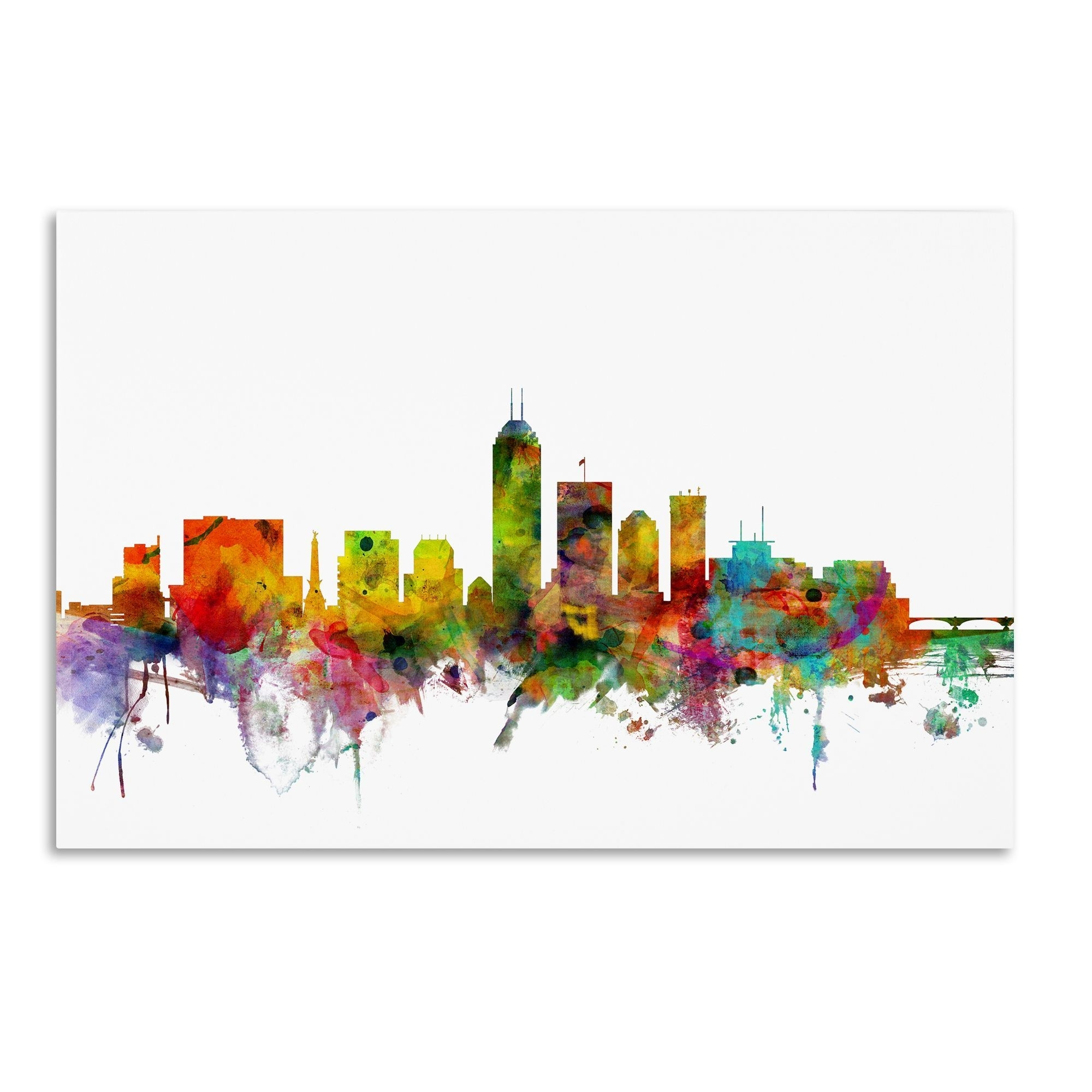 Favorite Newcastle Canvas Wall Art Throughout This Ready To Hang, Gallery Wrapped Art Piece Features A Colorful (View 9 of 15)