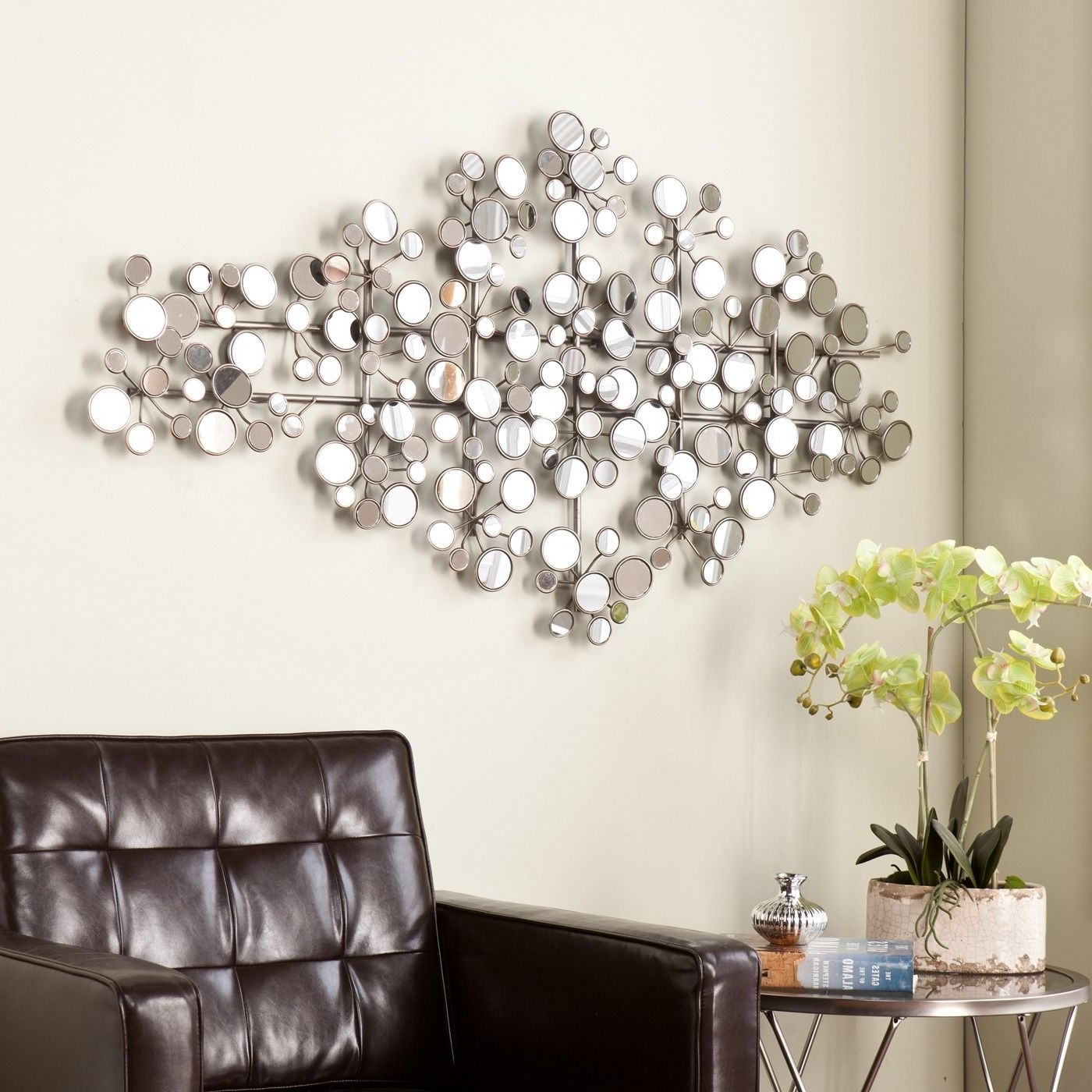 Favorite This Upton Home Olivia Mirrored Metal Wall Sculpture Features A With Mirrors Wall Accents (View 5 of 15)