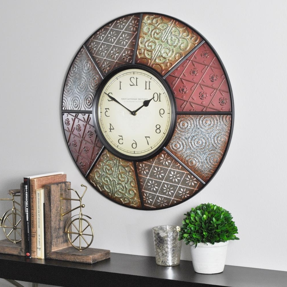 Firstime – Wall Clocks – Wall Decor – The Home Depot Regarding Well Liked Clock Wall Accents (View 8 of 15)