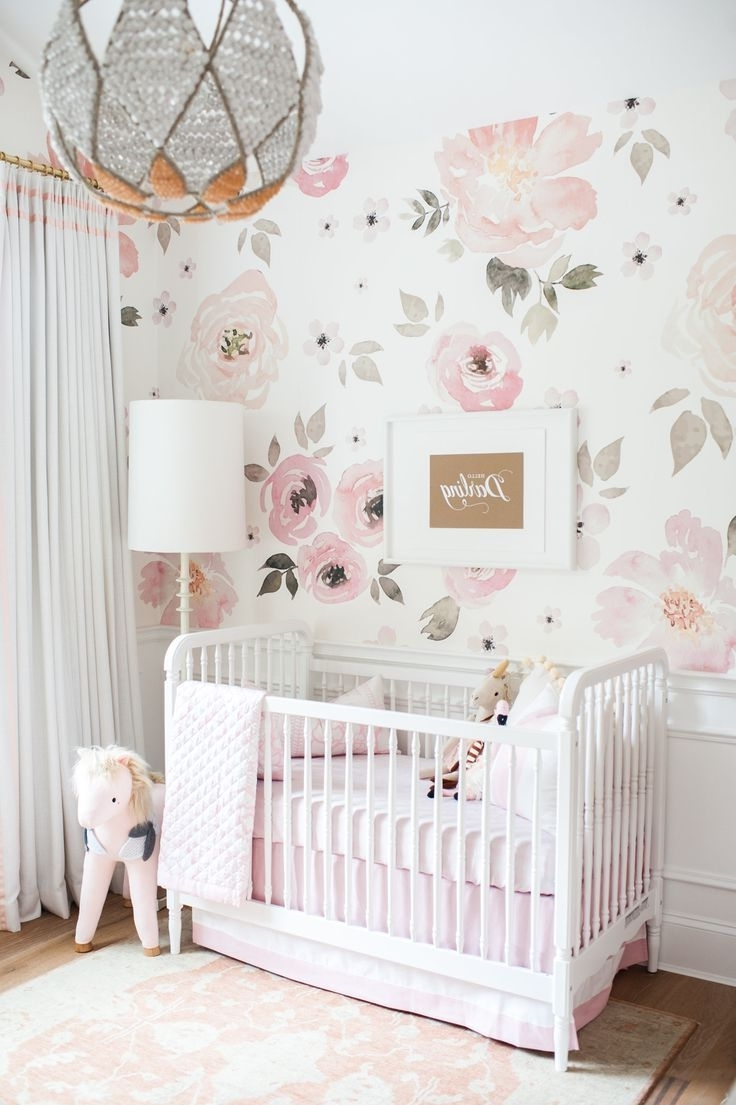 Floral Nursery, Floral With Favorite Girl Nursery Wall Accents (View 5 of 15)
