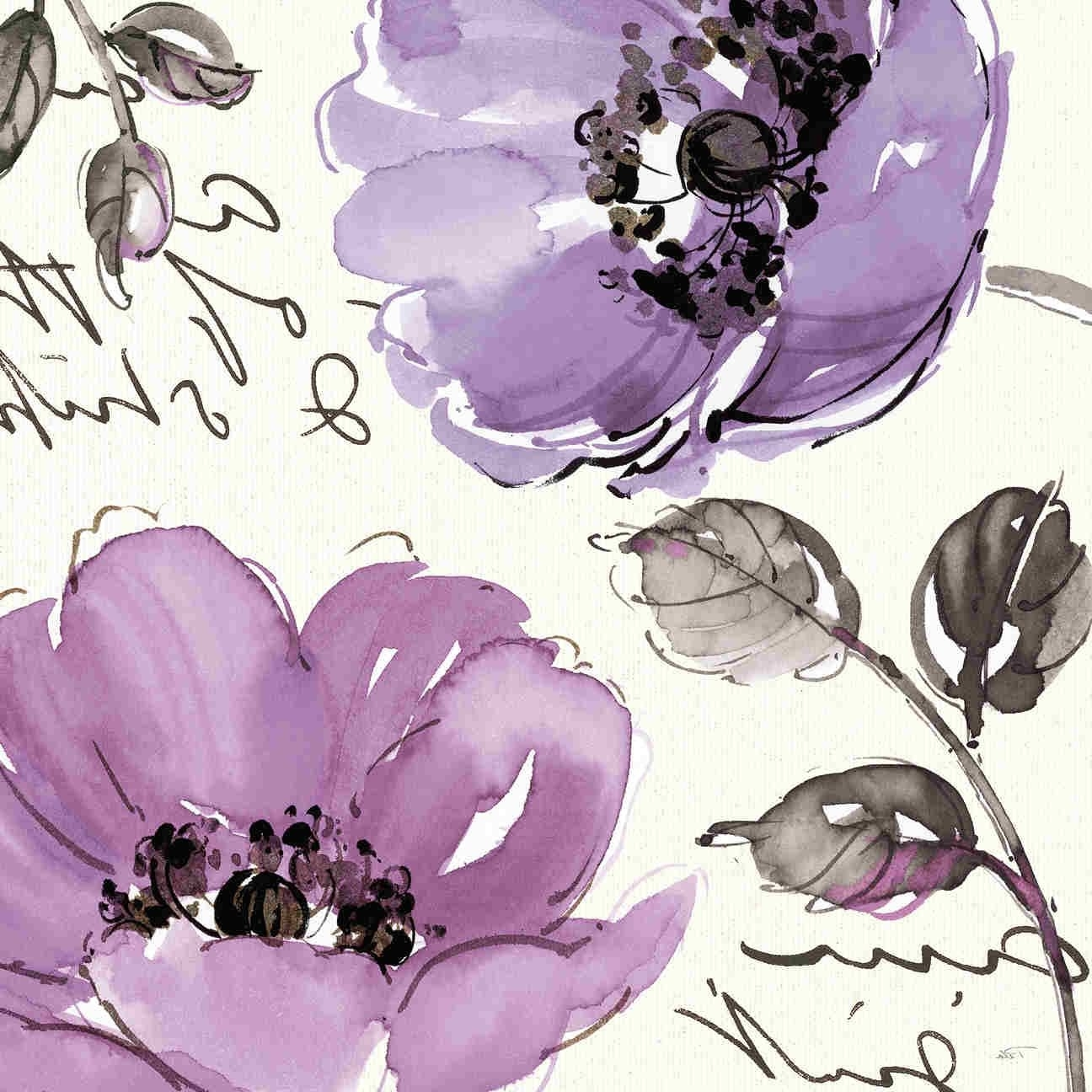 Flowers Framed Art Prints With Well Known Floral Waltz Plum Iipela Studio Contemporary Purple Floral Art (View 4 of 15)