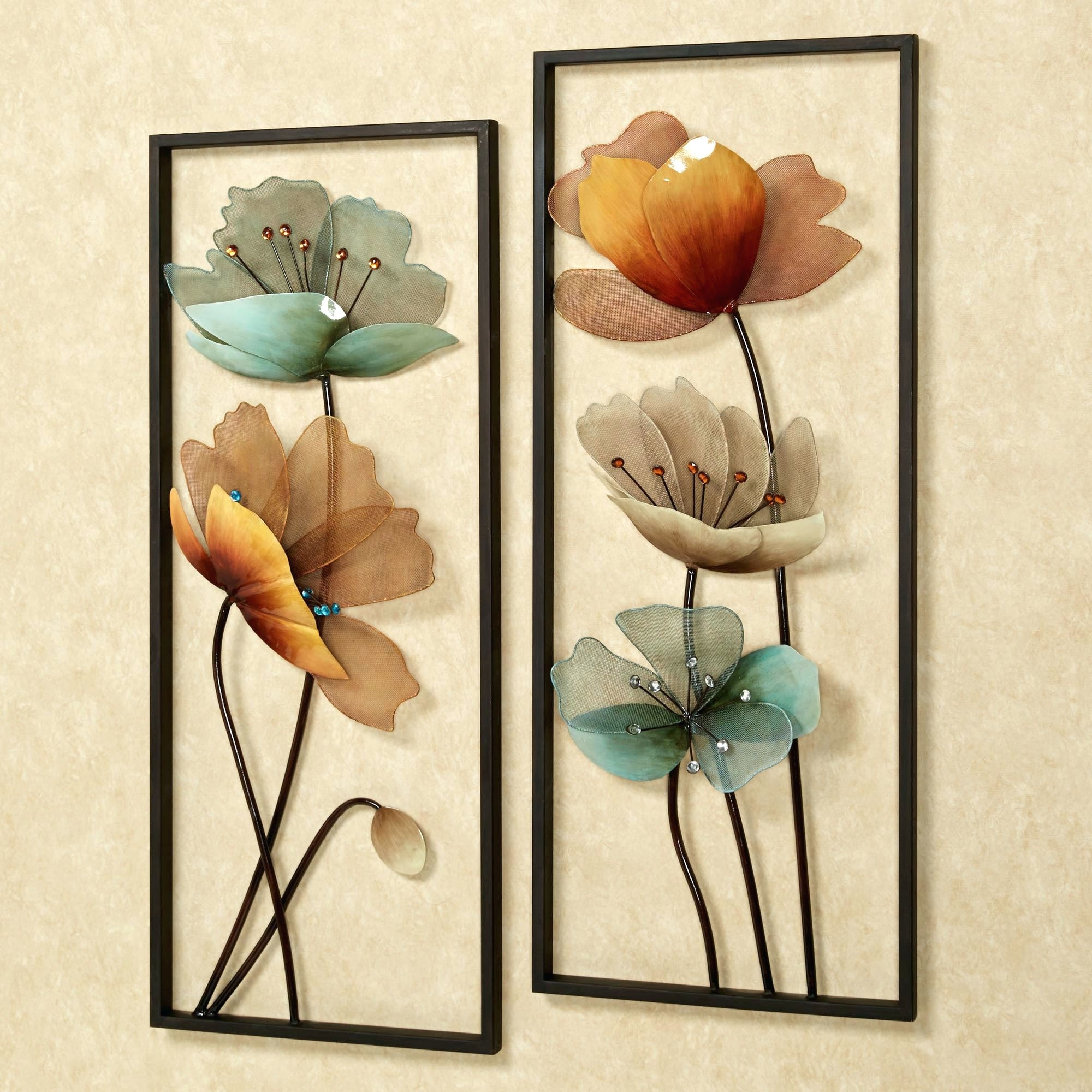 Flowers Wall Accents Intended For Recent Wall Arts ~ Turquoise Flower Ombre Metal Wall Art Turquoise Bloom (View 8 of 15)