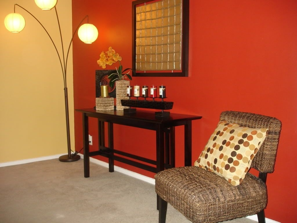Focal Point. Accent Wall. Red Wall. Warm Tones (View 14 of 15)